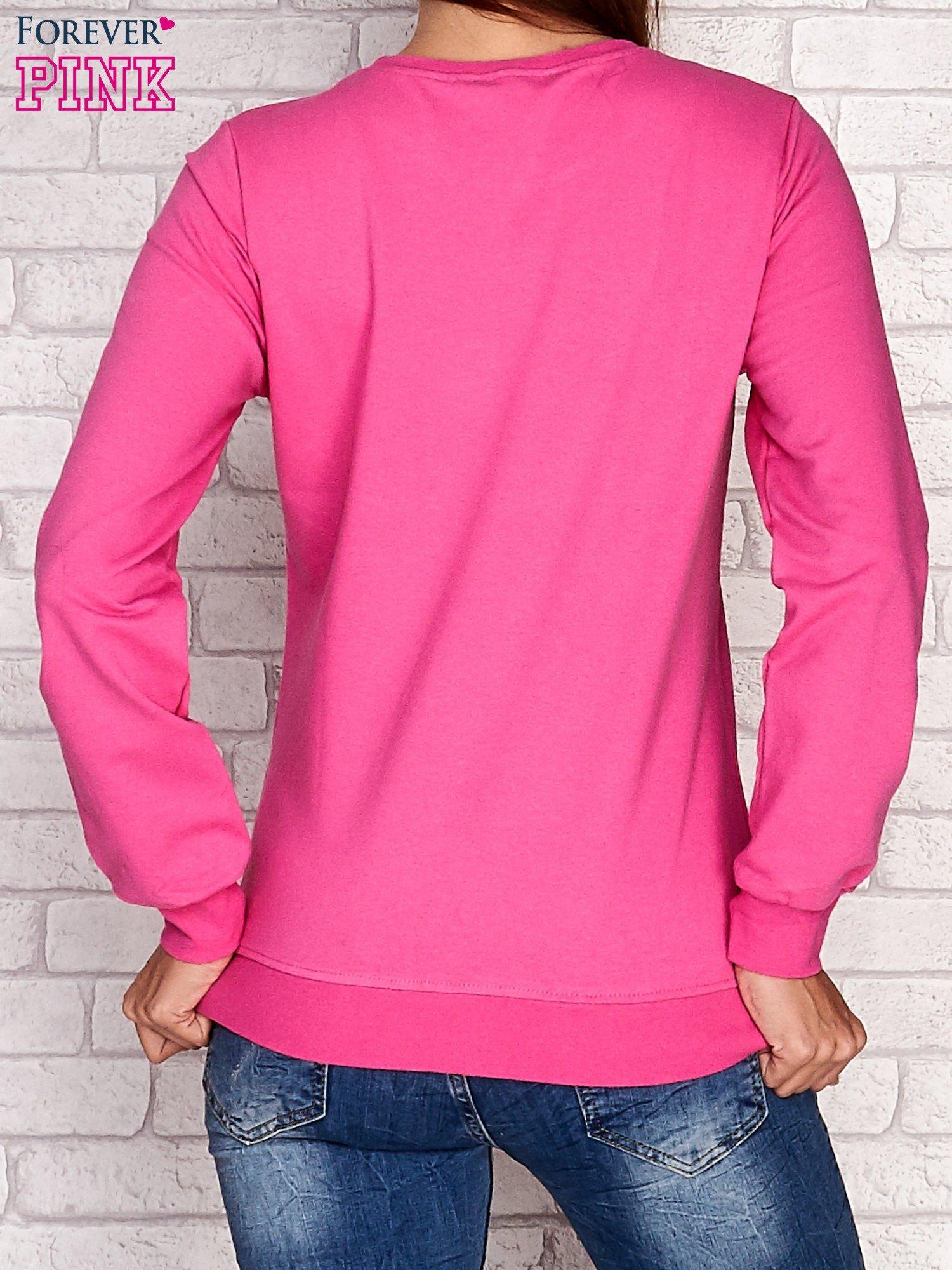 Różowa bluza z napisem NO LIMITS                                  zdj.                                  4