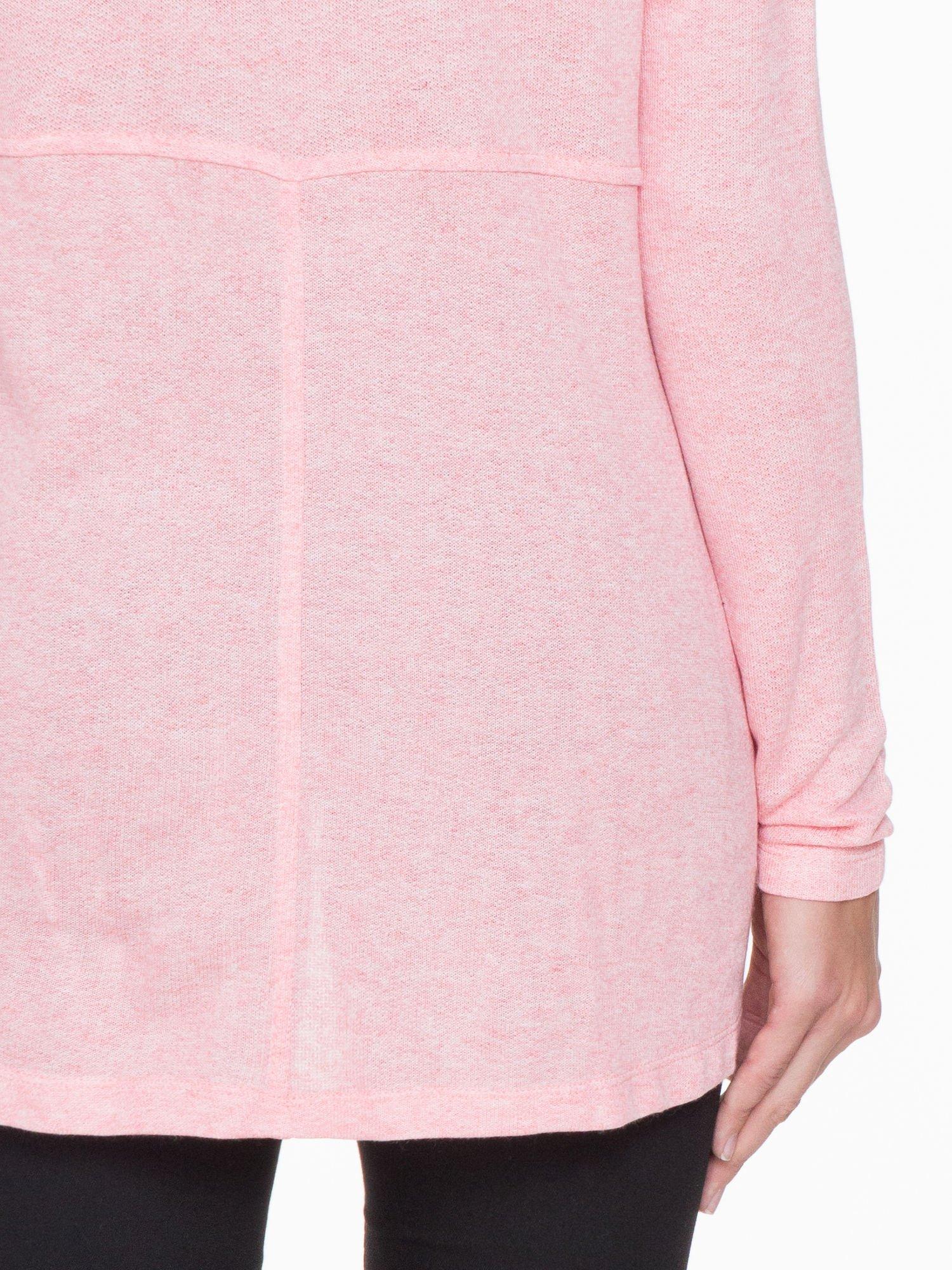 Różowa dresowa bluza oversize z kieszeniami                                  zdj.                                  6