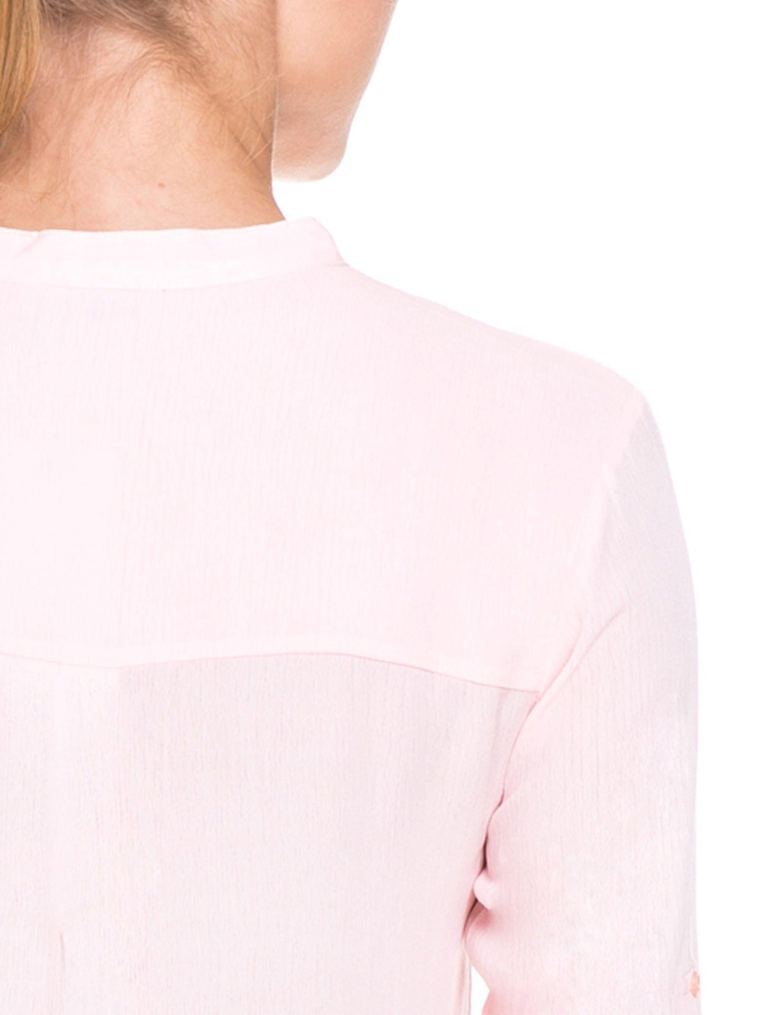 Różowa koszula damska z haftem na ramionach                                  zdj.                                  9