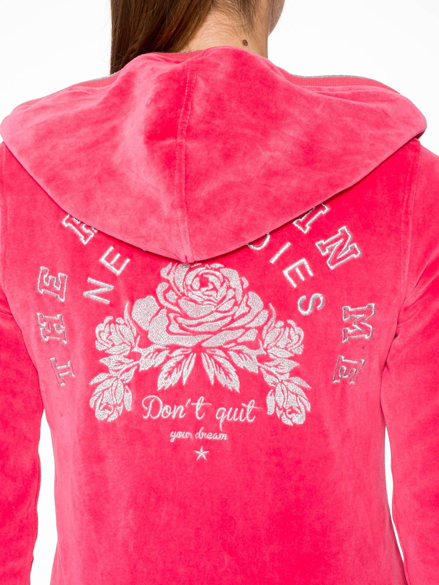 Różowa pluszowa bluza z kapturem zasuwana na suwak                                  zdj.                                  8