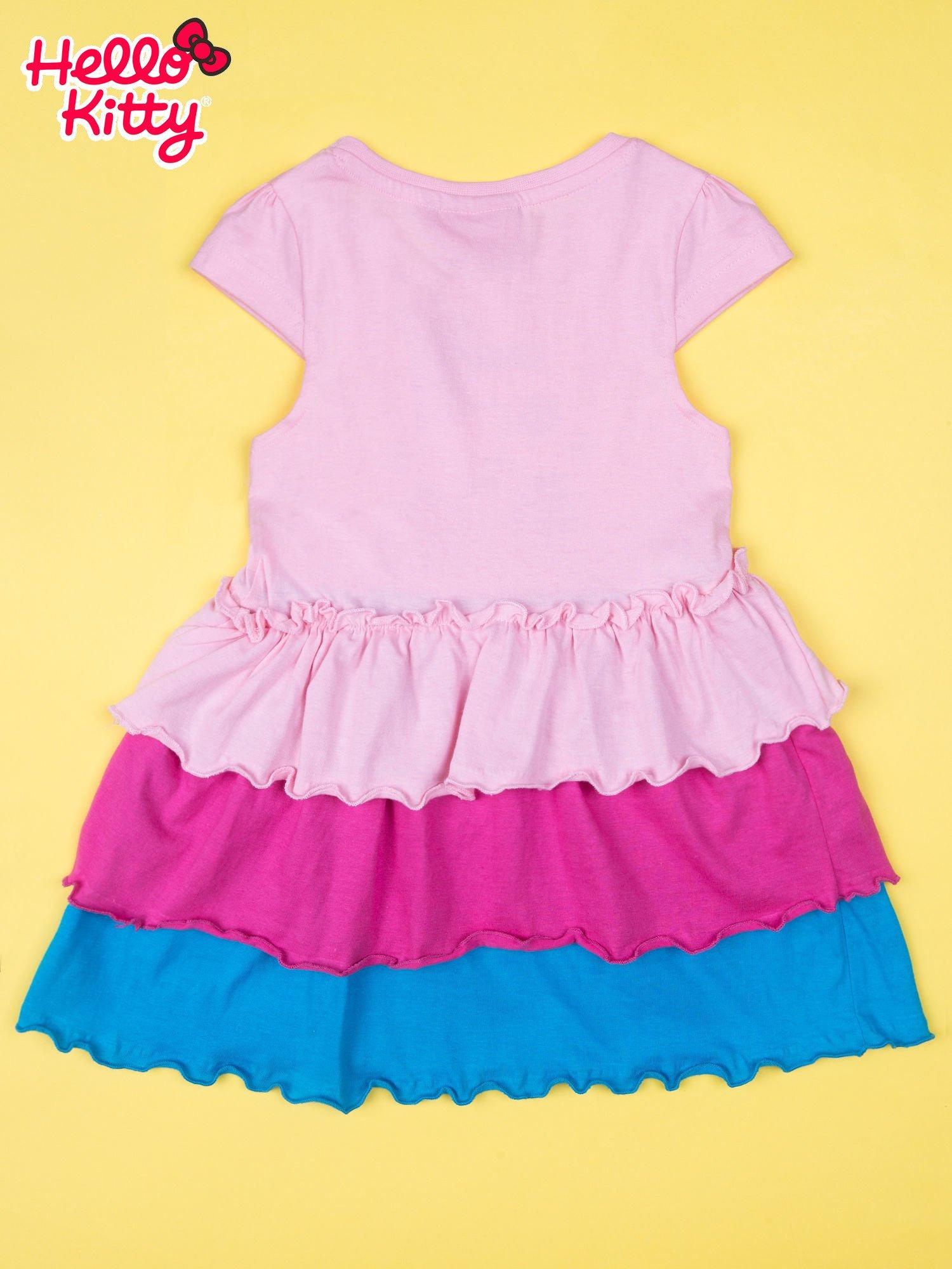 Różowa spódnica dla dziewczynki HELLO KITTY z kokardką                                  zdj.                                  2