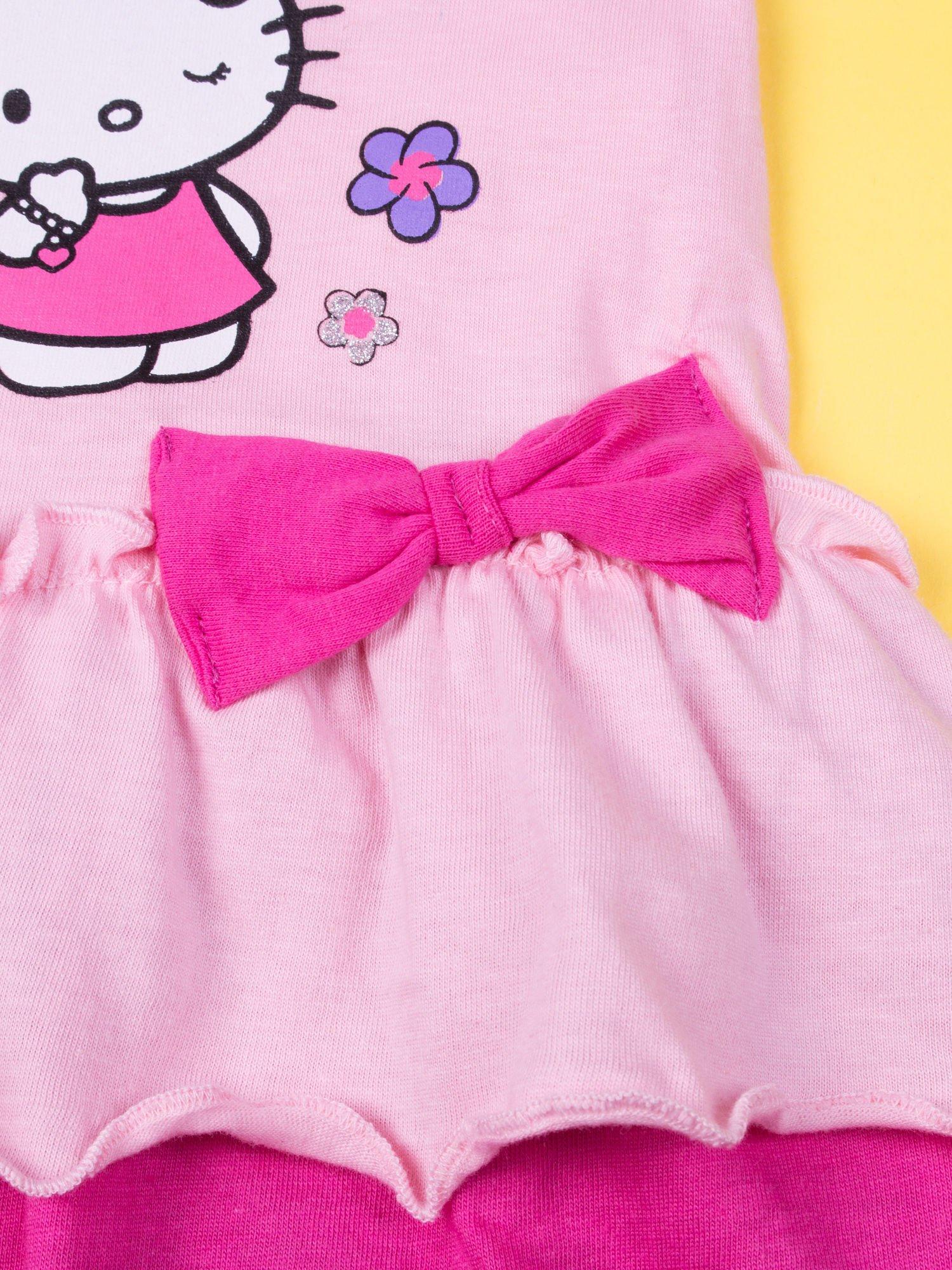 Różowa spódnica dla dziewczynki HELLO KITTY z kokardką                                  zdj.                                  5