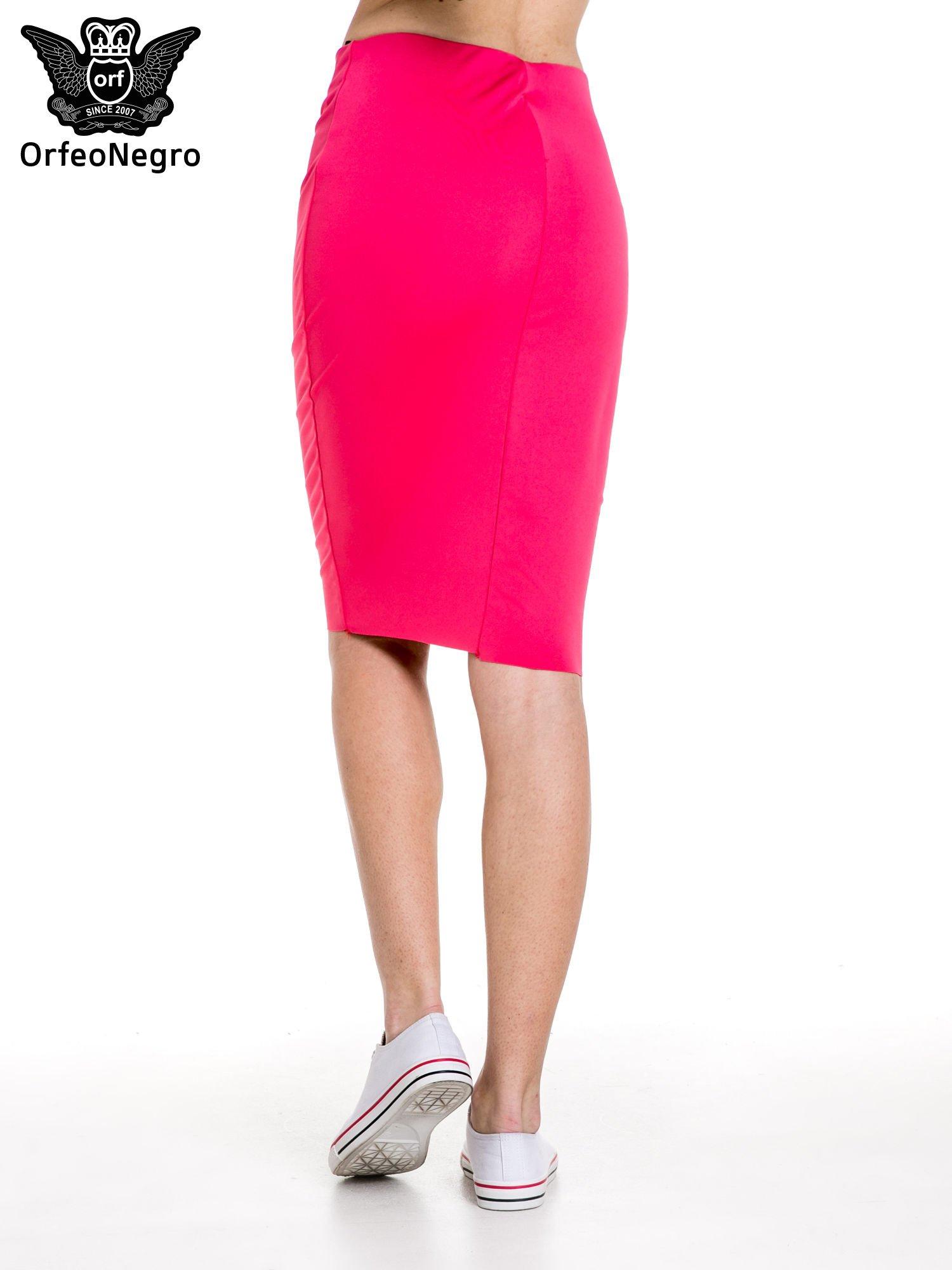 Różowa spódnica tuba za kolano                                  zdj.                                  4