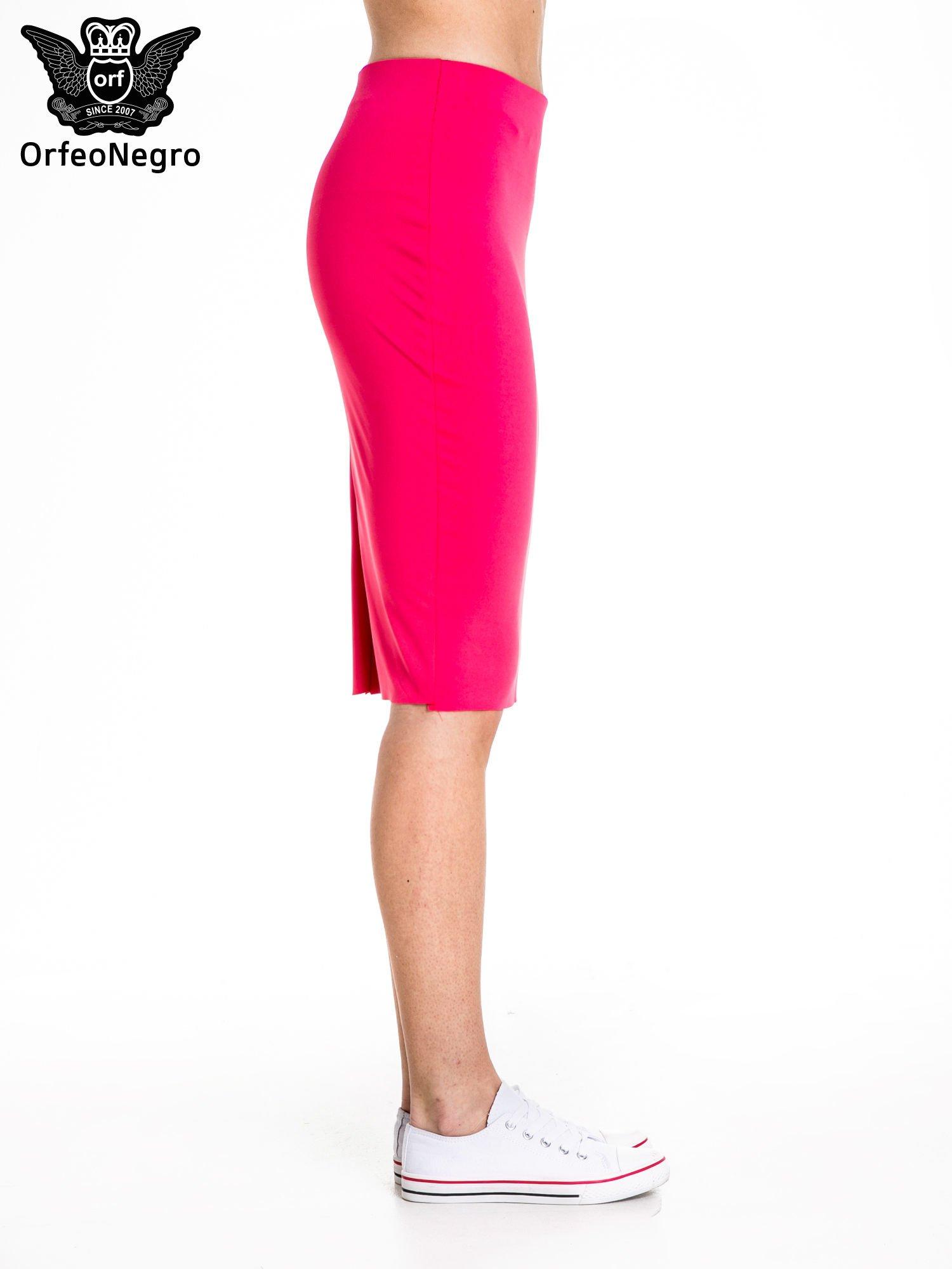 Różowa spódnica tuba za kolano                                  zdj.                                  3