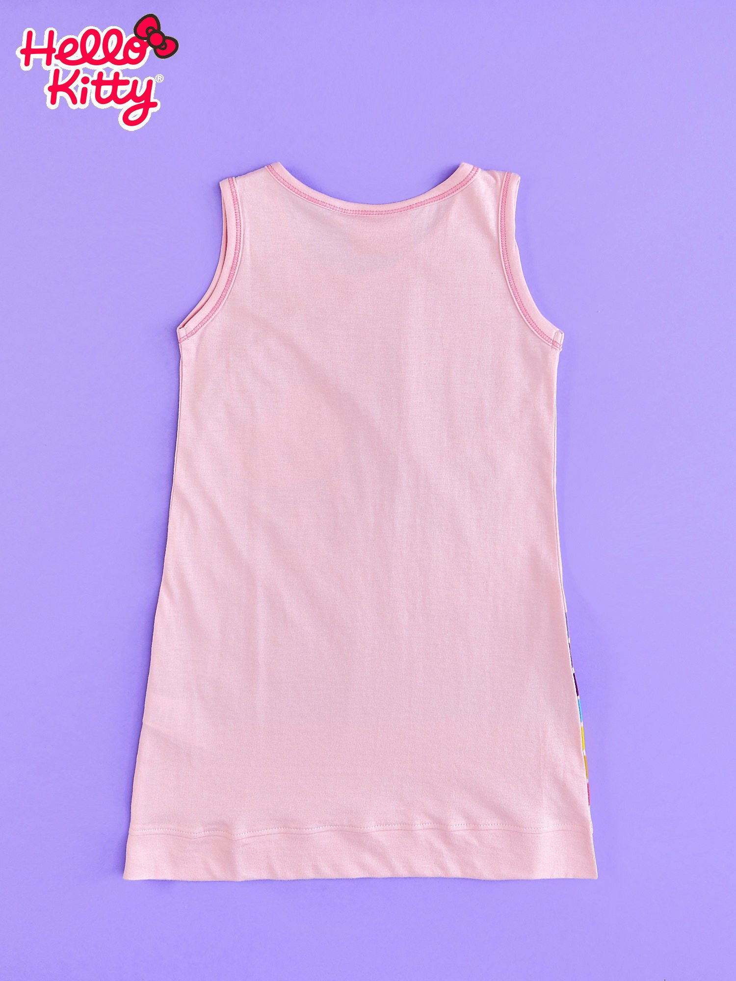 Różowa sukienka bez rękawów dla dziewczynki HELLO KITTY                                  zdj.                                  2