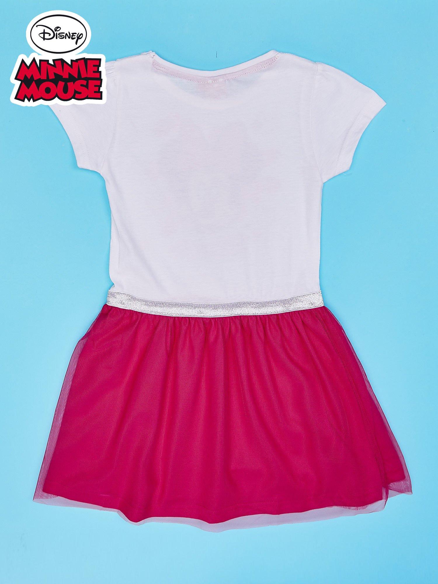 Różowa sukienka bez rękawów dla dziewczynki MINNIE MOUSE                                  zdj.                                  2