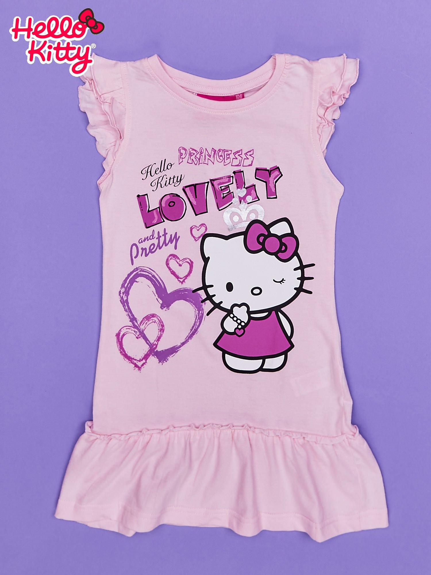 Różowa sukienka dla dziewczynki HELLO KITTY                                  zdj.                                  1