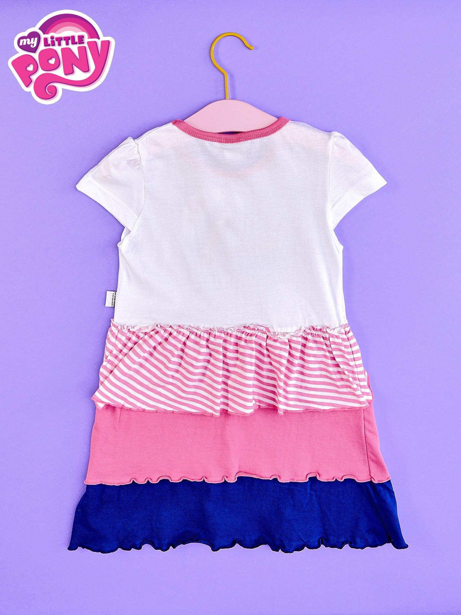 Różowa sukienka dla dziewczynki z kokardką i falbankami MY LITTLE PONY                                  zdj.                                  2