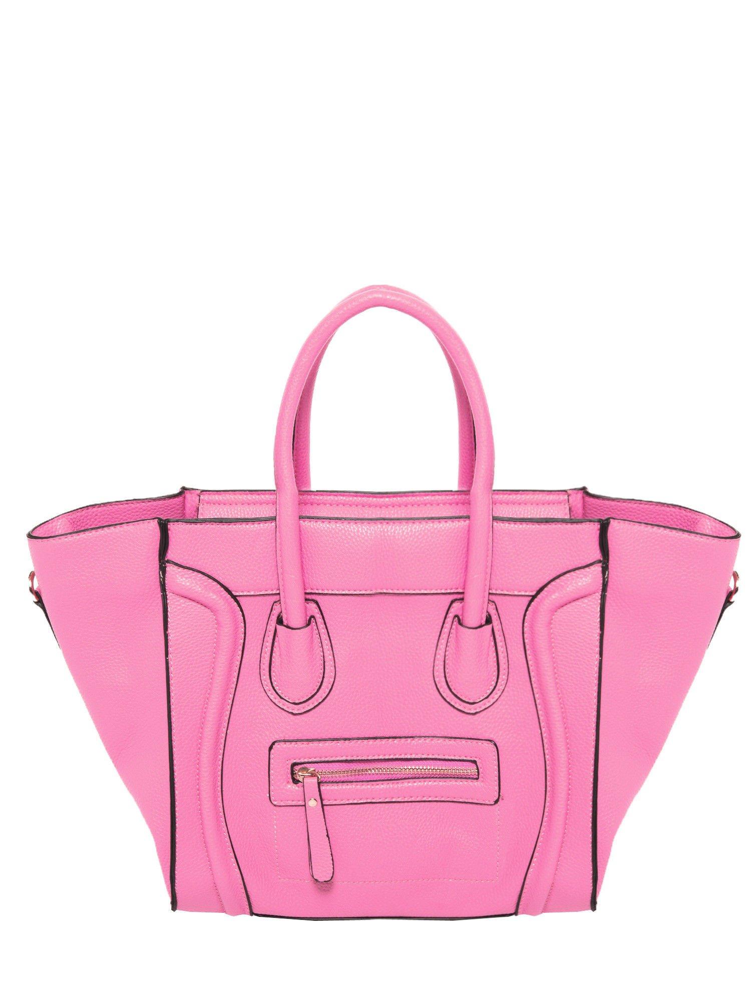 Różowa trapezowa torba miejska                                   zdj.                                  1