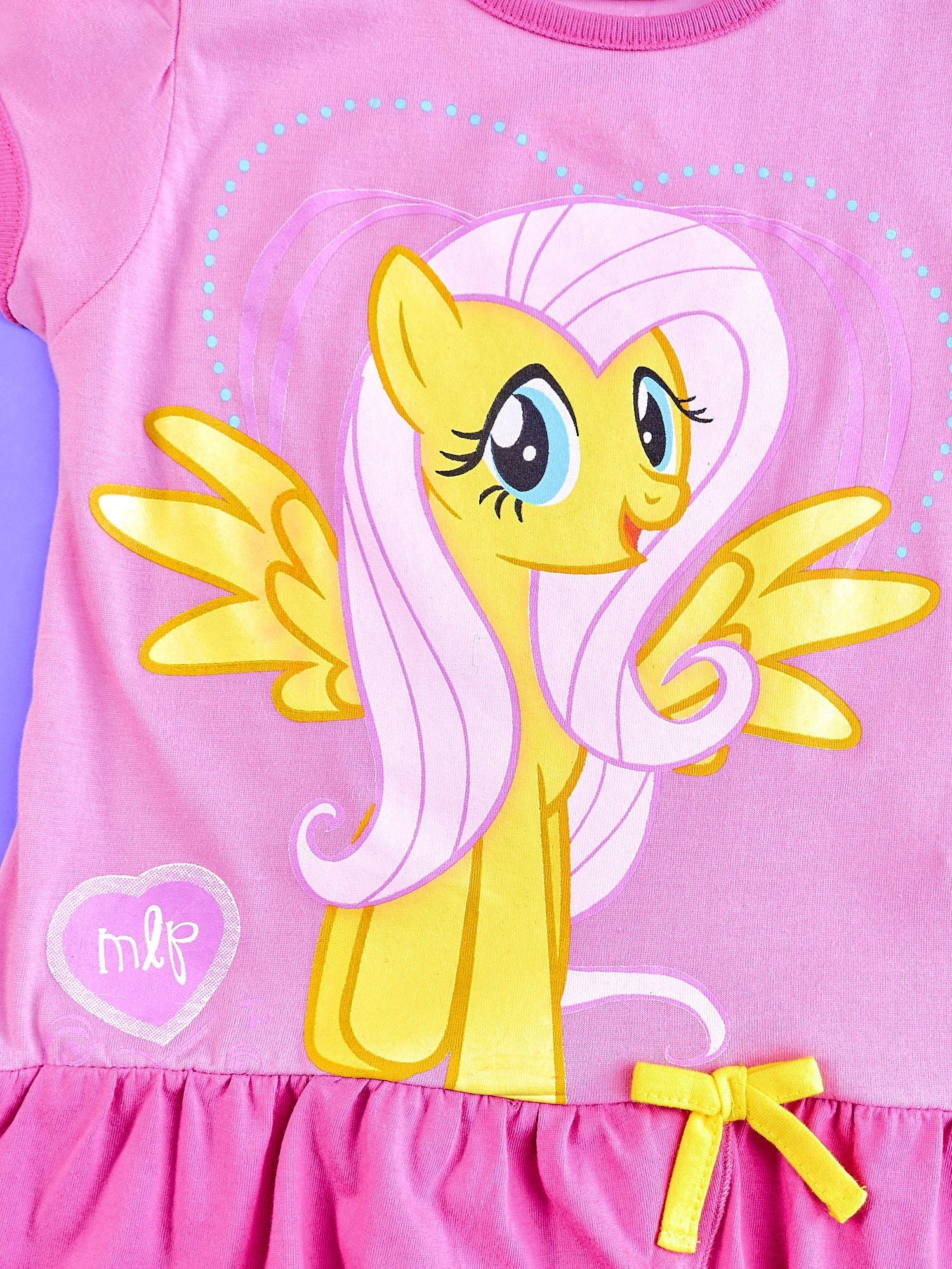 Różowa tunika dla dziewczynki MY LITTLE PONY z kokardką                                  zdj.                                  4