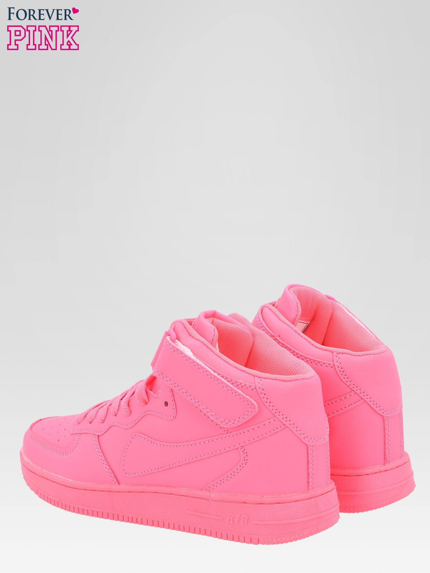Różowe buty sportowe Heather za kostkę na grubej podeszwie                                  zdj.                                  3