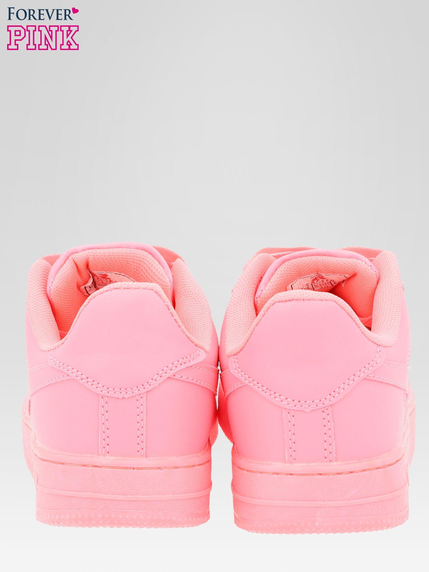 Różowe buty sportowe na grubej podeszwie                                  zdj.                                  3