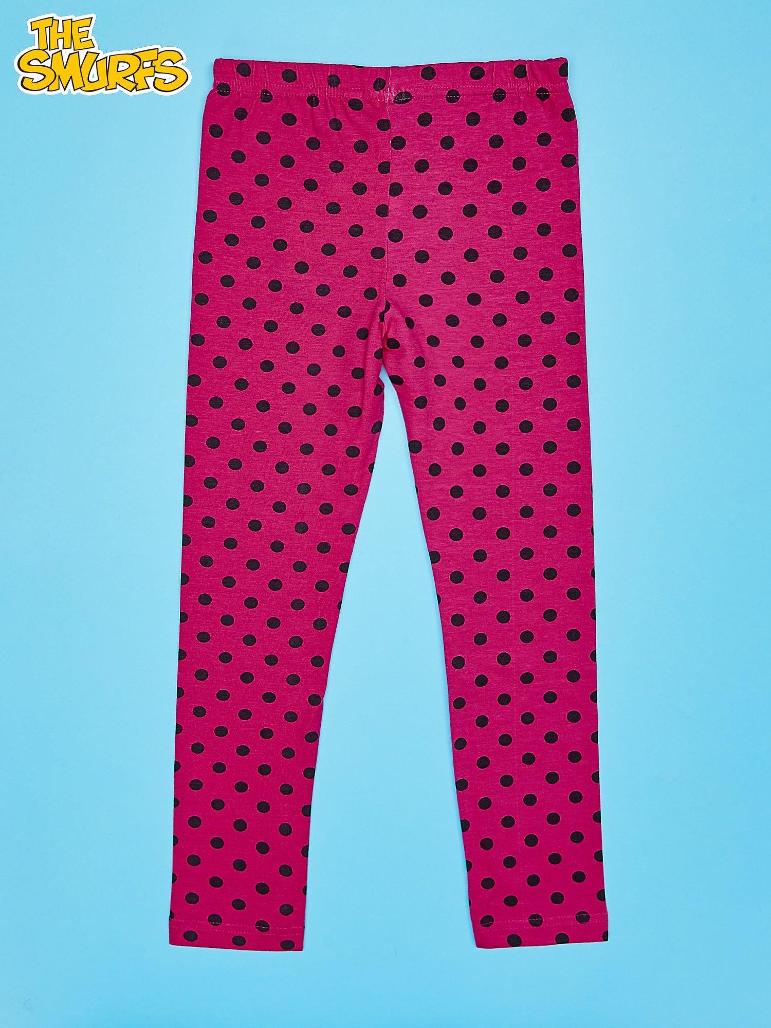 Różowe legginsy w groszki dla dziewczynki SMERFY                                  zdj.                                  2