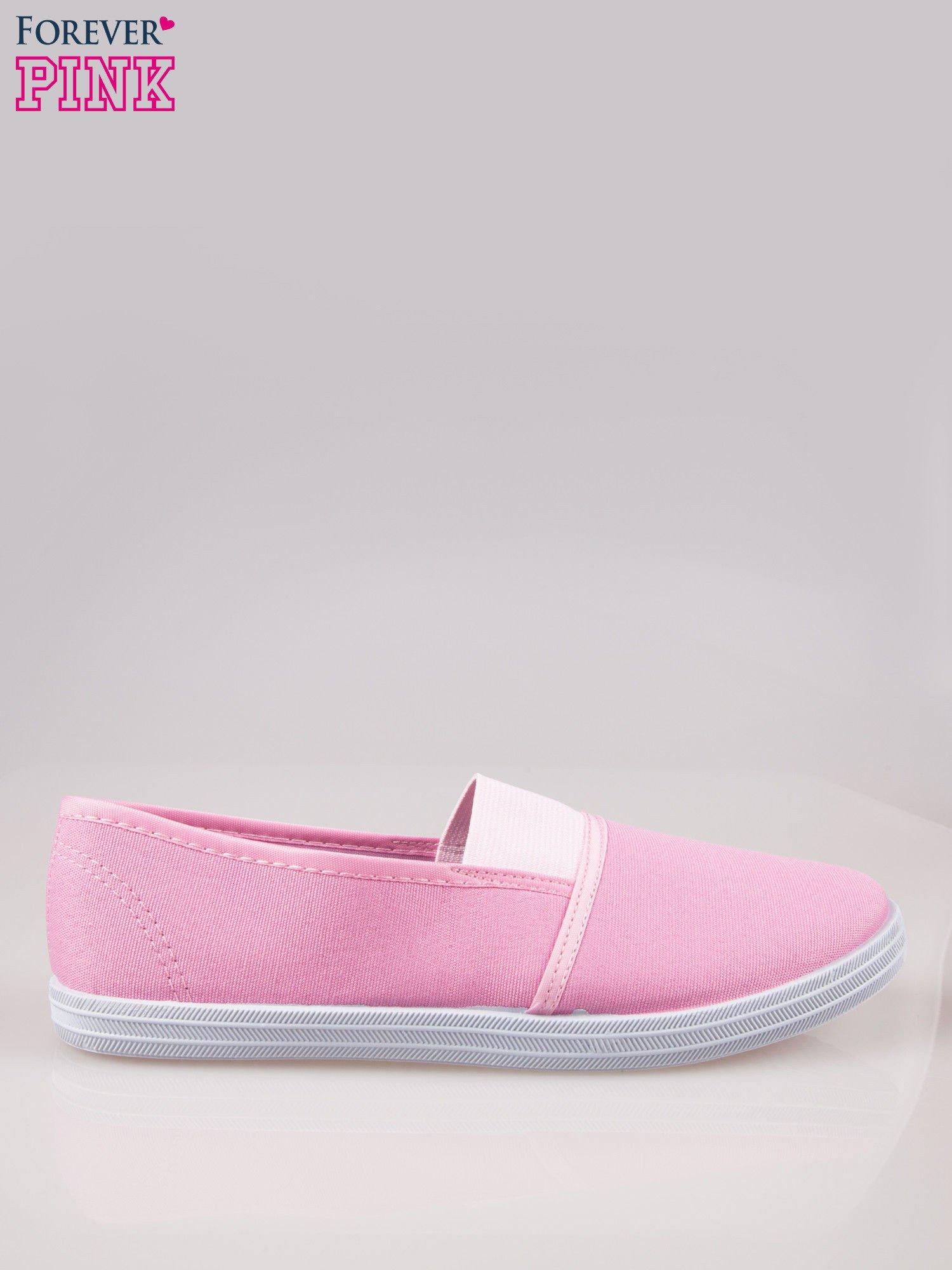 Różowe miękkie buty slip on                                  zdj.                                  1