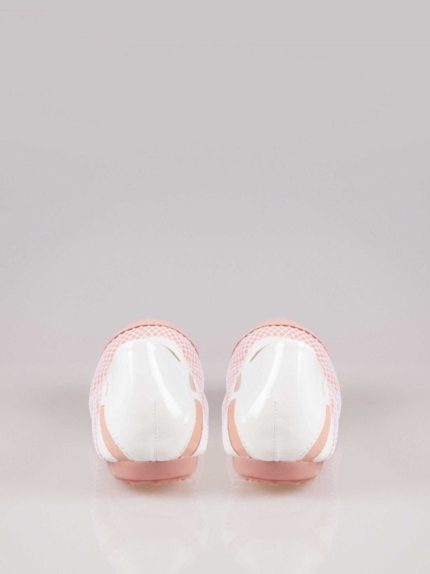 Różowe siateczkowe baleriny Whippie na gumkę                                  zdj.                                  1
