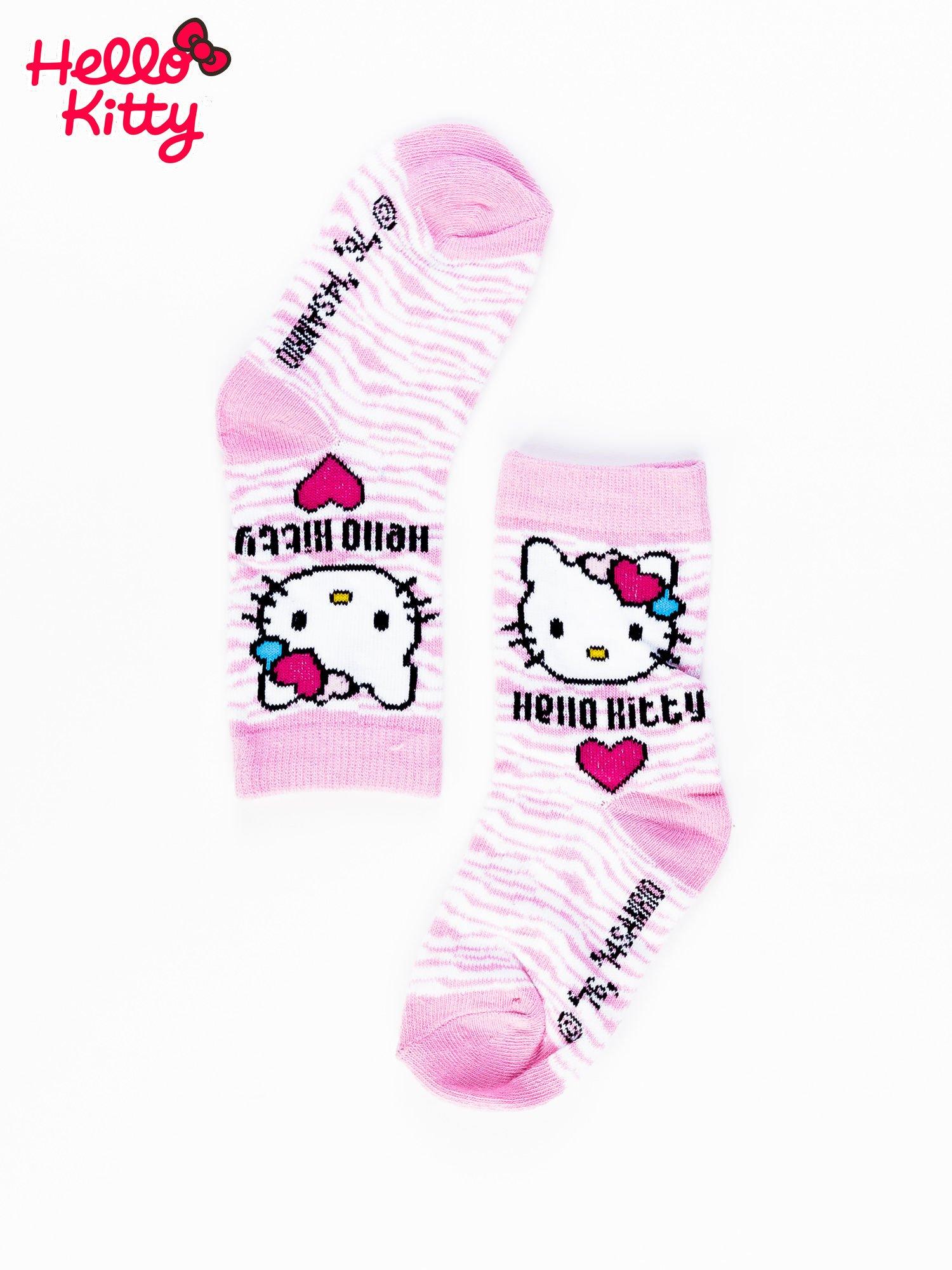 Różowe skarpetki dla dziewczynki HELLO KITTY                                  zdj.                                  2