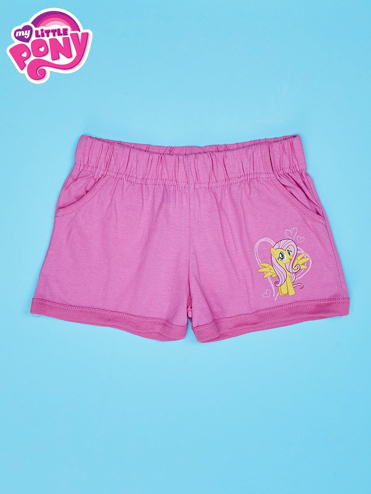 Różowe szorty dla dziewczynki MY LITTLE PONY                                  zdj.                                  1