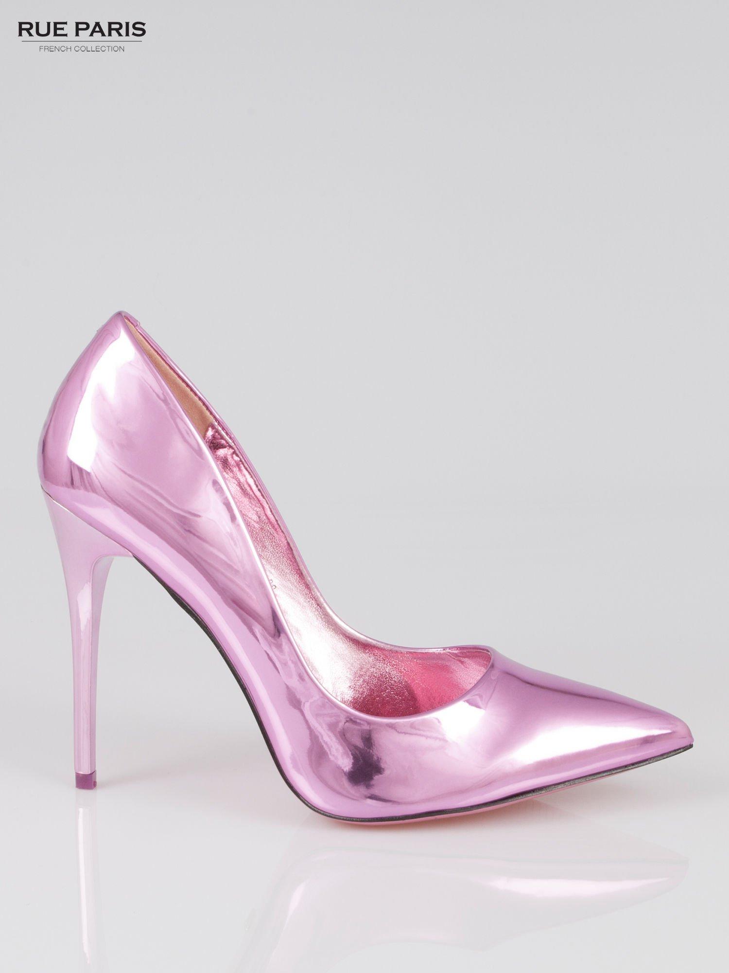 2740bb6a Różowe szpilki metaliczne Mirror Heels - Buty Szpilki średnie ...