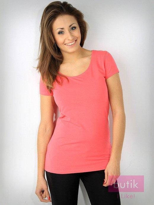 Różowy basicowy t-shirt For Fitness                                  zdj.                                  1