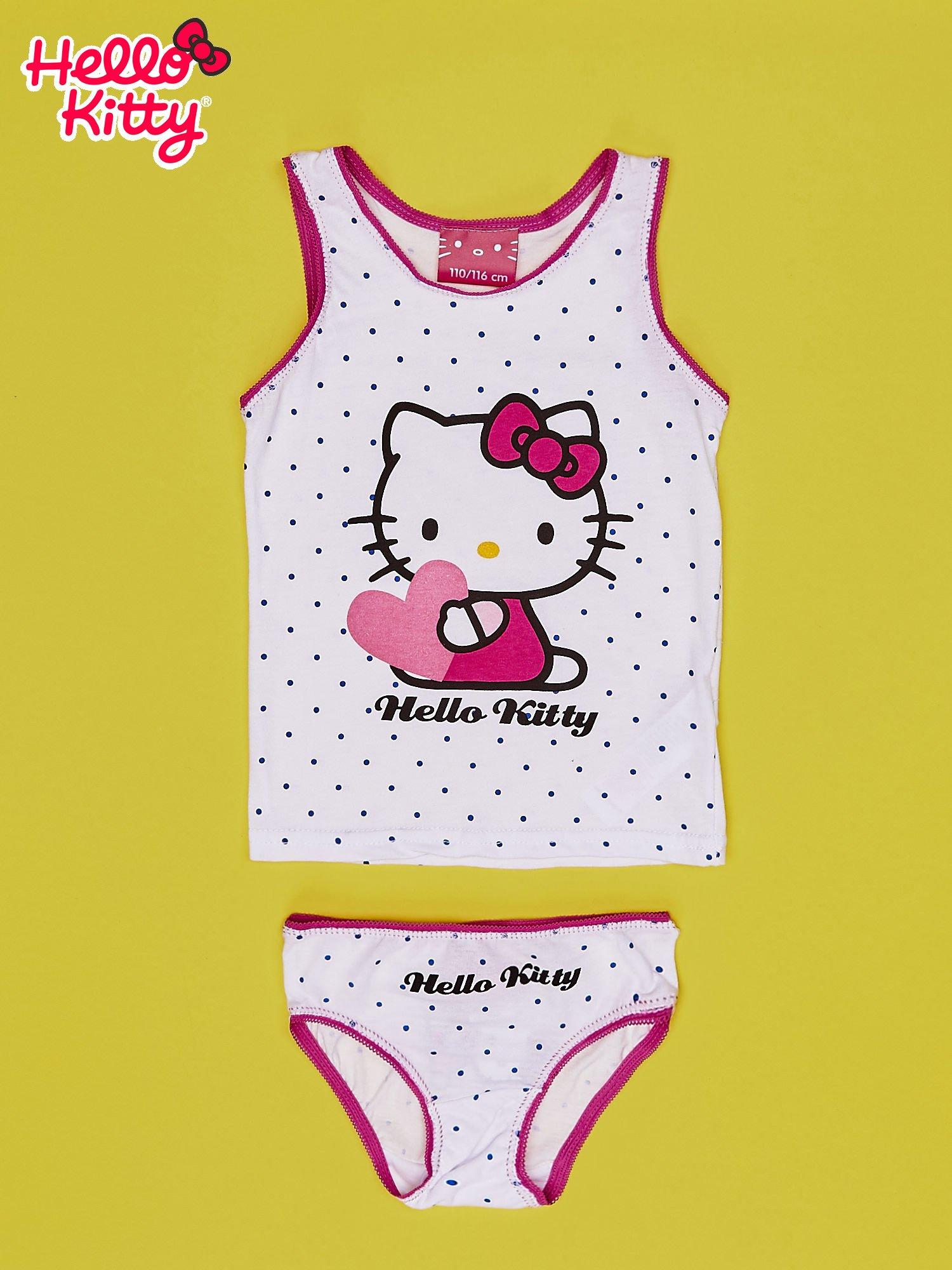 Różowy komplet do spania dla dziewczynki HELLO KITTY                                  zdj.                                  1