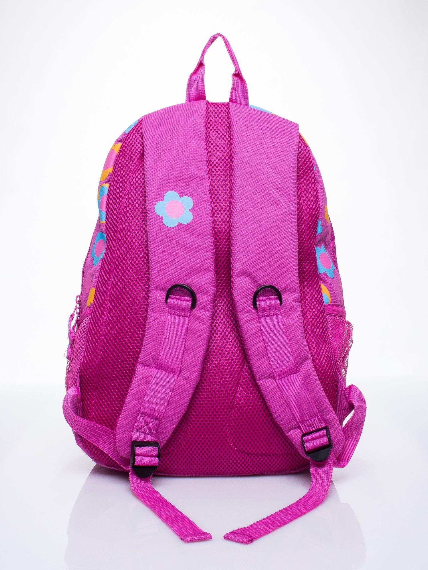 Różowy plecak dla dziewczynki DISNEY w kwiatki                                  zdj.                                  3