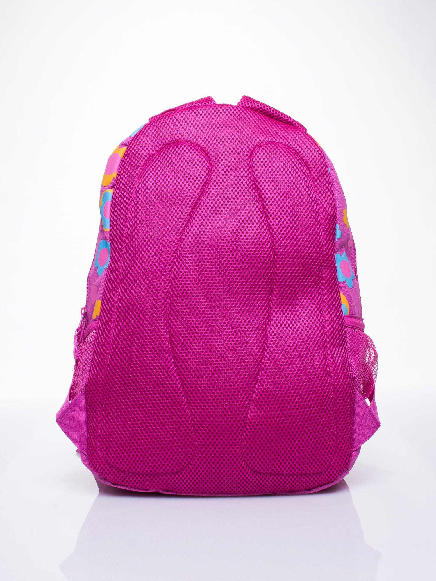 Różowy plecak dla dziewczynki DISNEY w kwiatki                                  zdj.                                  4