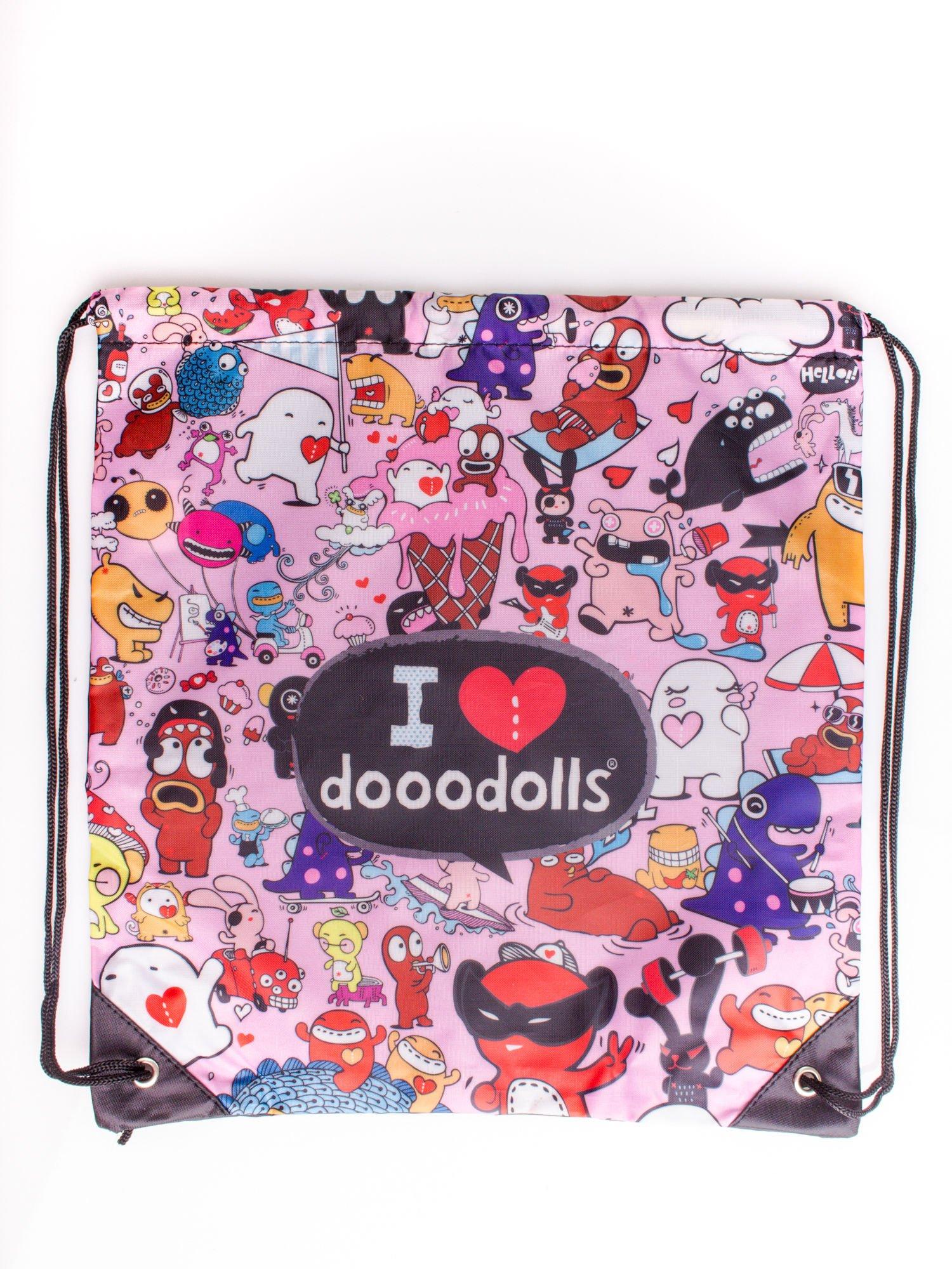 Różowy plecak worek DISNEY Doodolls                                  zdj.                                  3