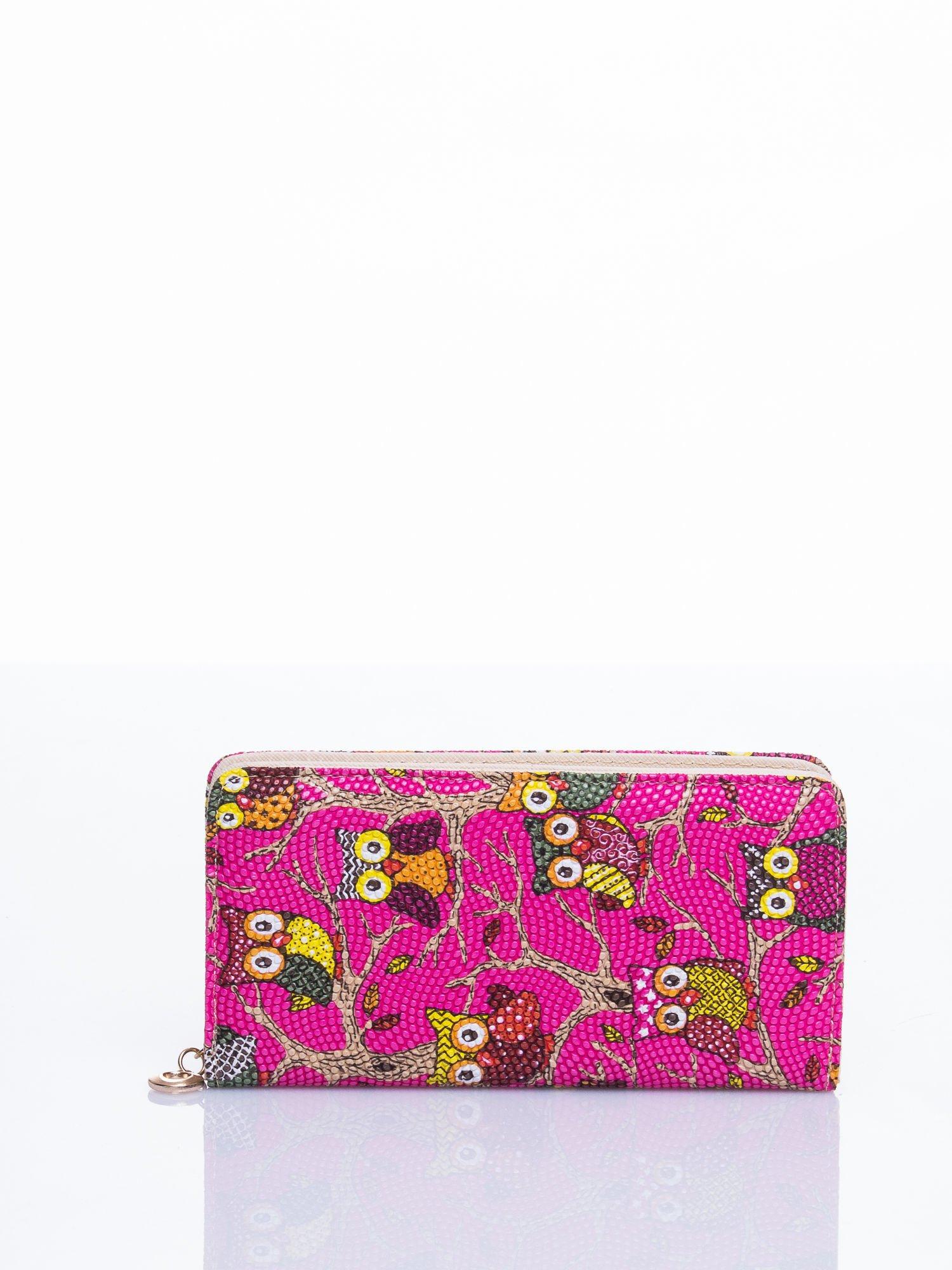 Różowy portfel w sówki                                  zdj.                                  3