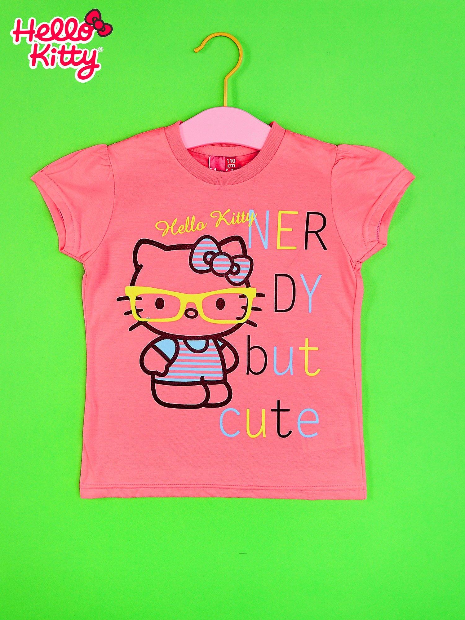 Różowy t-shirt dla dziewczynki HELLO KITTY                                  zdj.                                  1