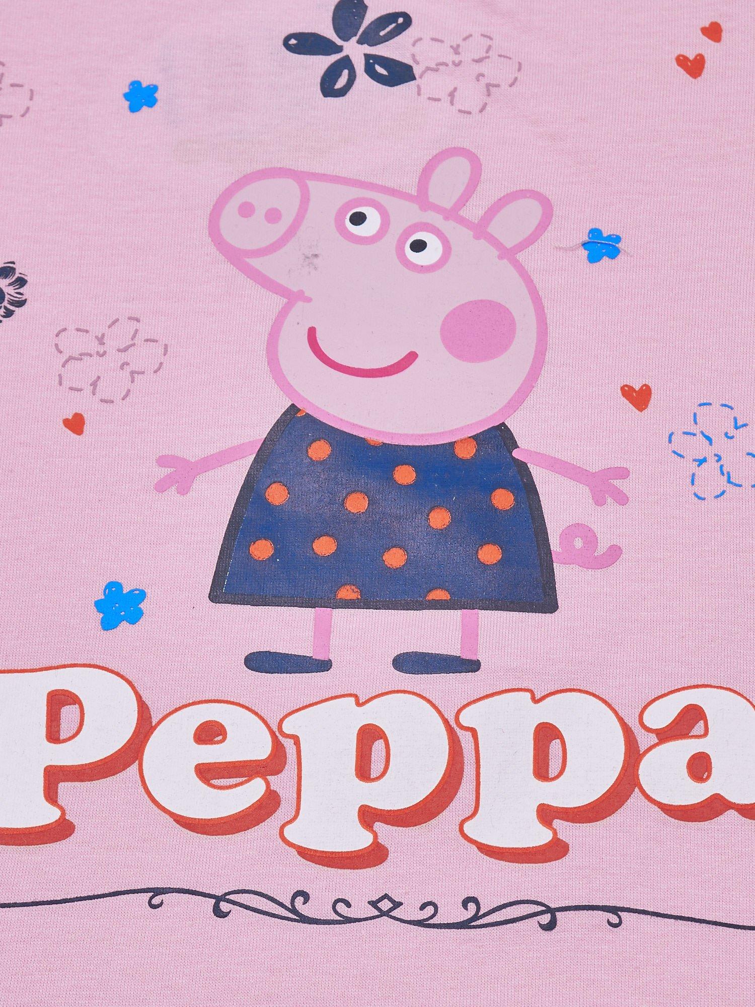 Różowy t-shirt dla dziewczynki ŚWINKA PEPPA                                  zdj.                                  4