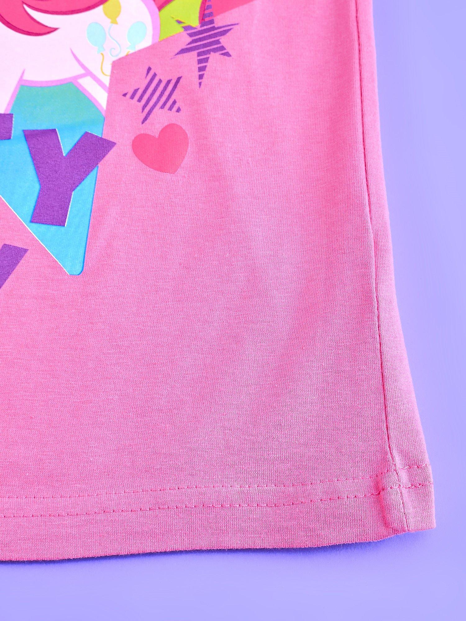 Różowy t-shirt dla dziewczynki nadruk MY LITTLE PONY                                  zdj.                                  5
