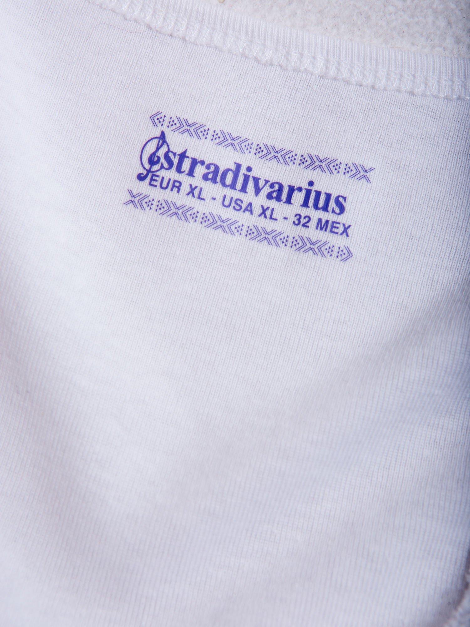 STRADIVARIUS Biały top bokserka basic                                  zdj.                                  3