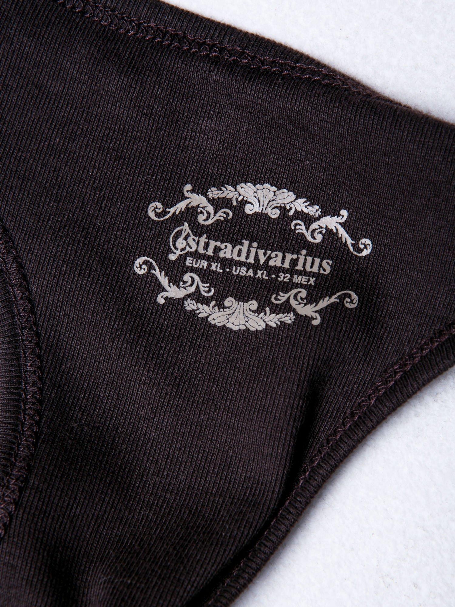 STRADIVARIUS Brązowy top basic typu bokserka                                  zdj.                                  3
