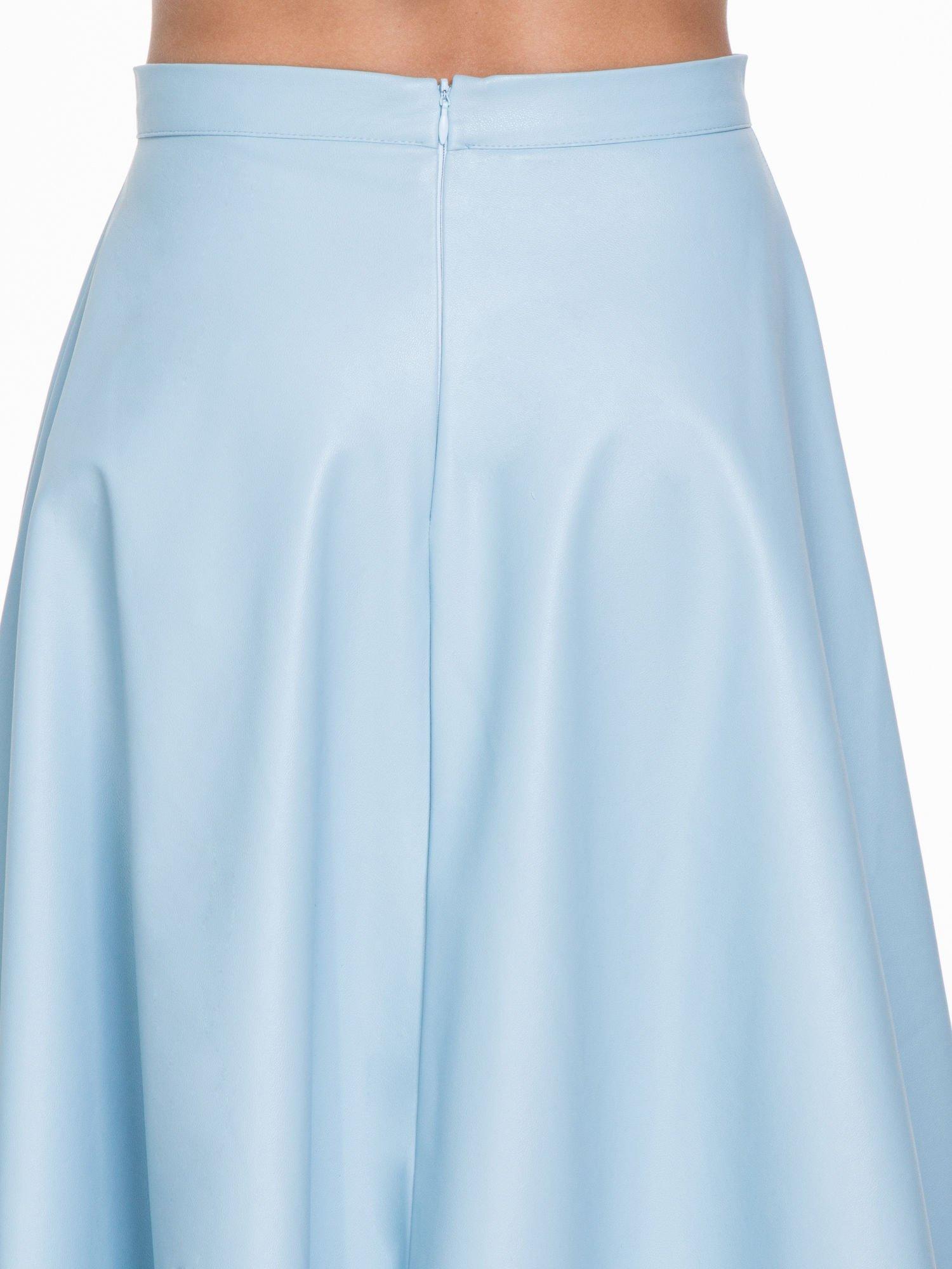 Spódnica midi szyta z półkola w kolorze baby blue                                  zdj.                                  6