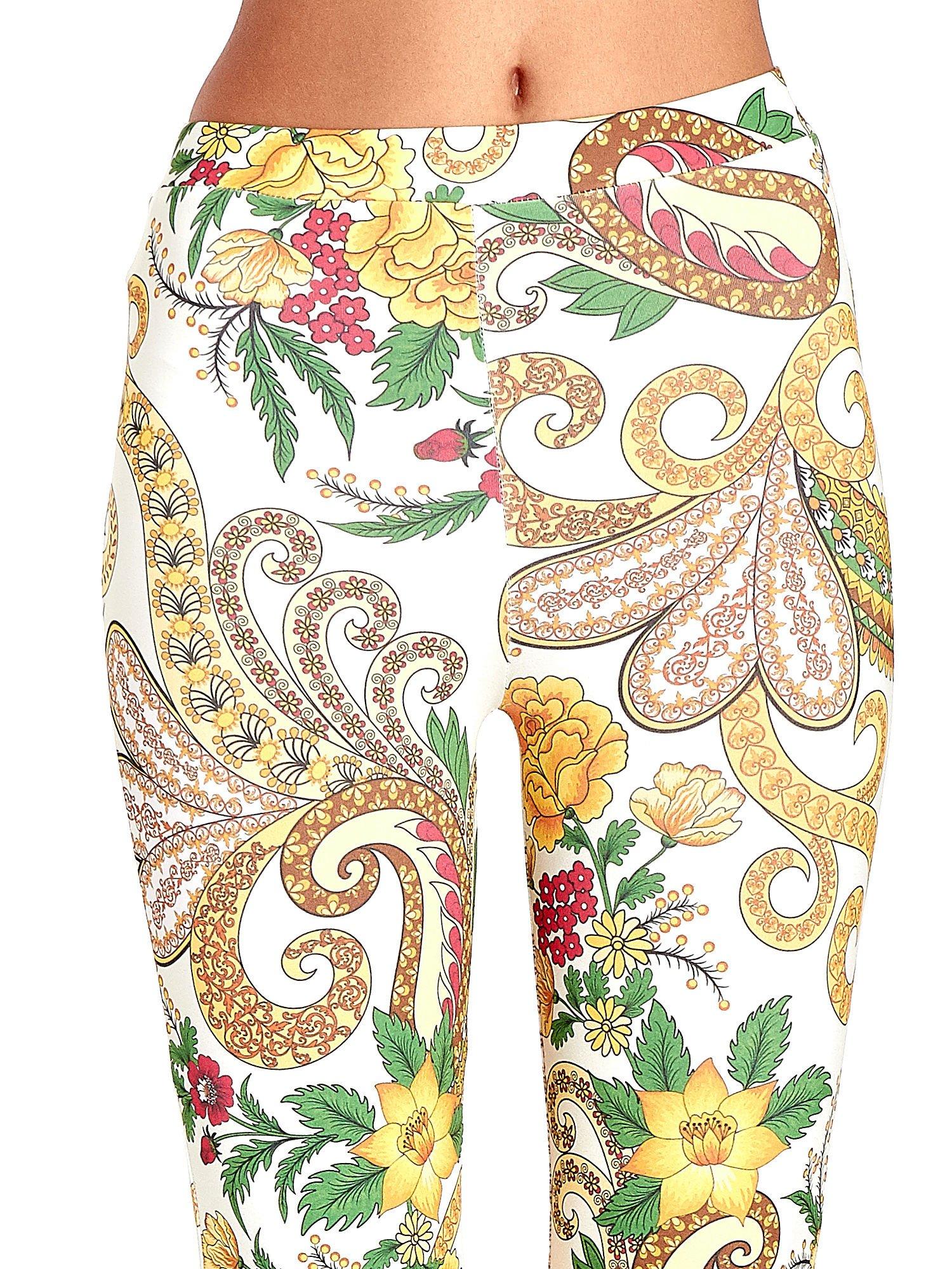 Spodnie dzwony we wzór kwiatowy                                  zdj.                                  5