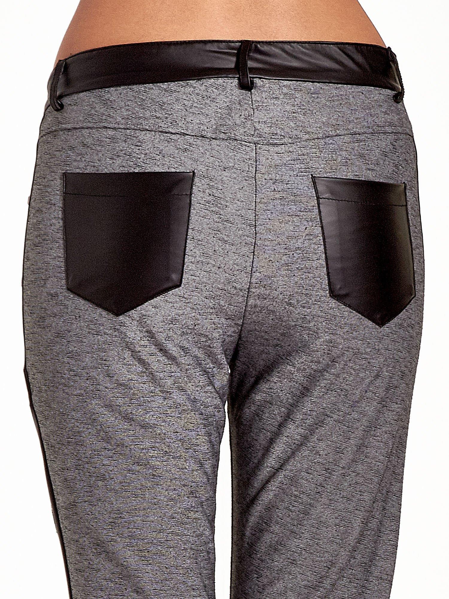 Spodnie two tone ze skórzanymi wstawkami                                  zdj.                                  7