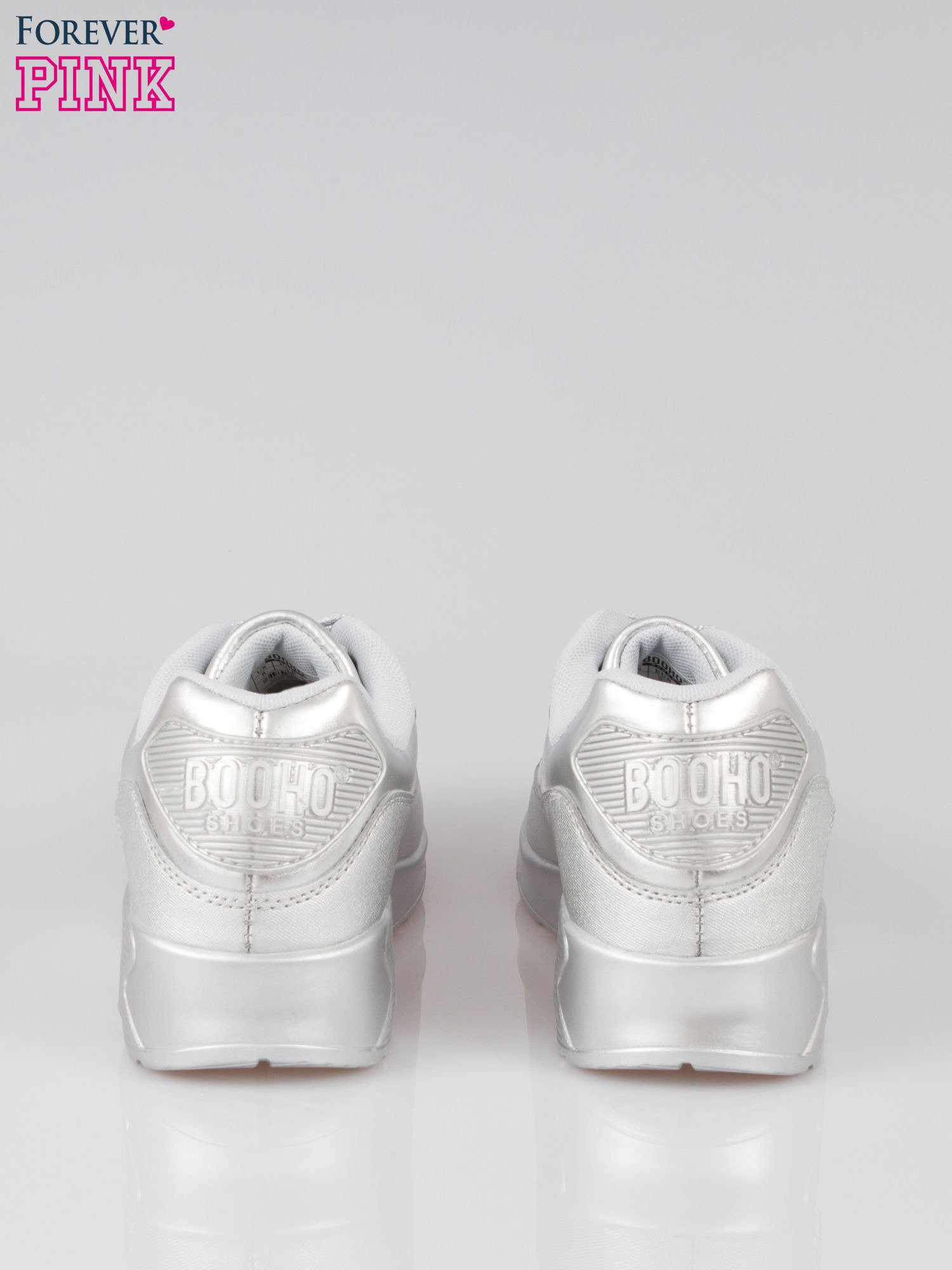 Srebrne buty sportowe faux leather Gigi z poduszką powietrzną w pięcie                                  zdj.                                  3