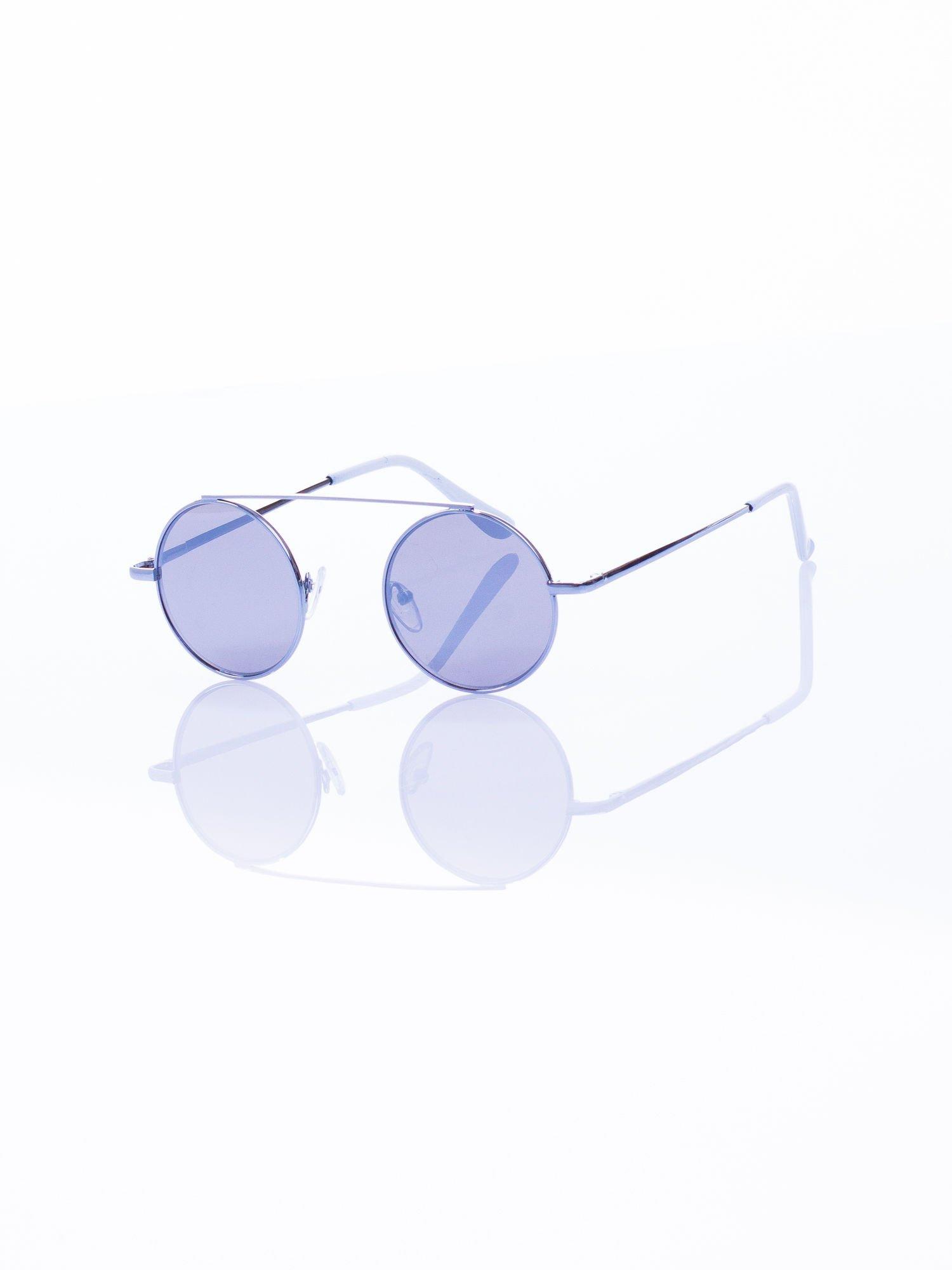 Srebrne okulary przeciwsłoneczne LENONKI lustrzanka                                  zdj.                                  5