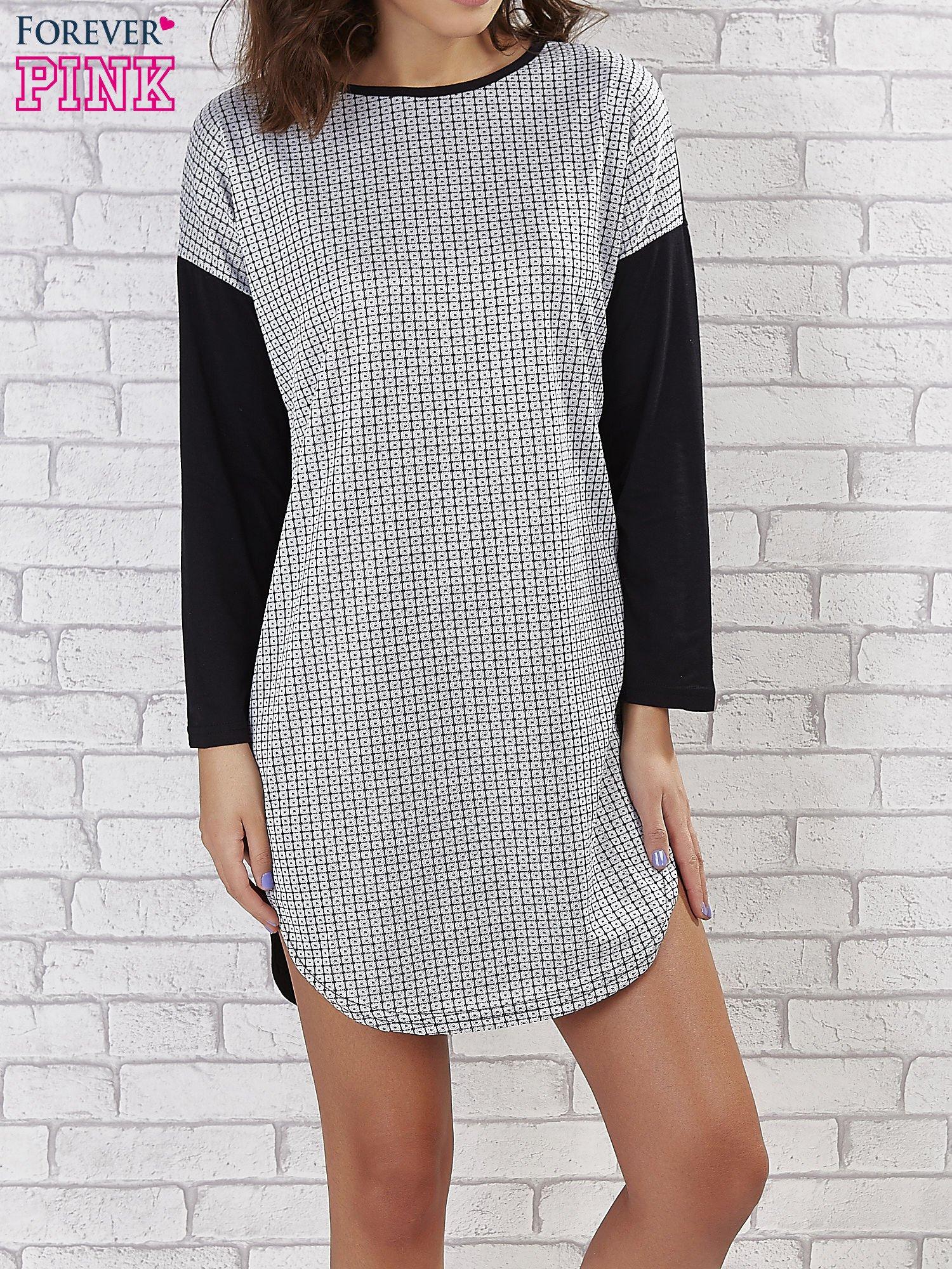Sukienka two tone w geometryczne wzory                                  zdj.                                  3