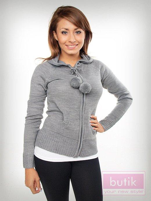 Sweter z kapturem                                  zdj.                                  4