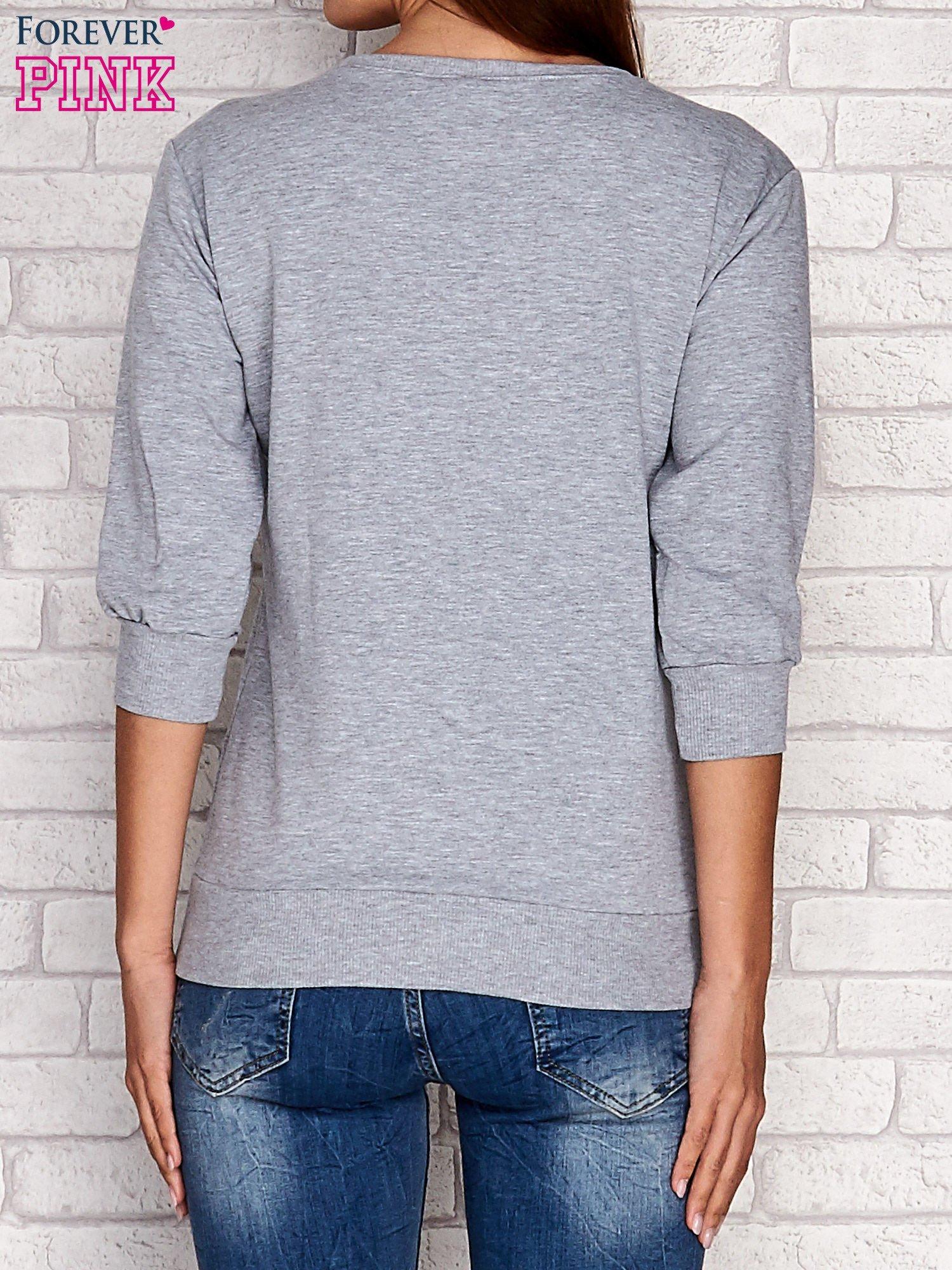 Szara bluza z nadrukiem pandy                                  zdj.                                  2