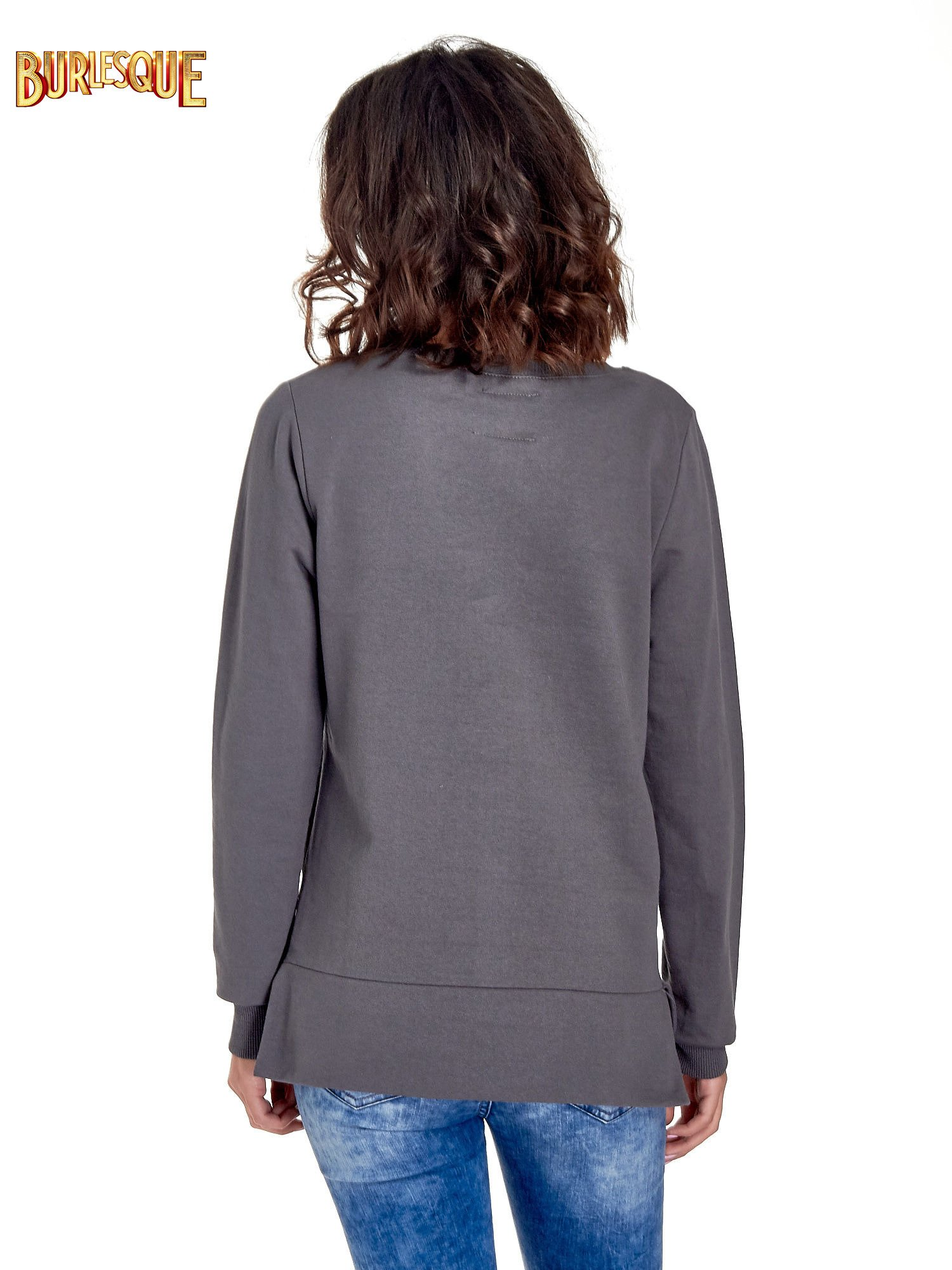 Szara bluza z napisem LOVE ME i dłuższym tyłem                                  zdj.                                  2