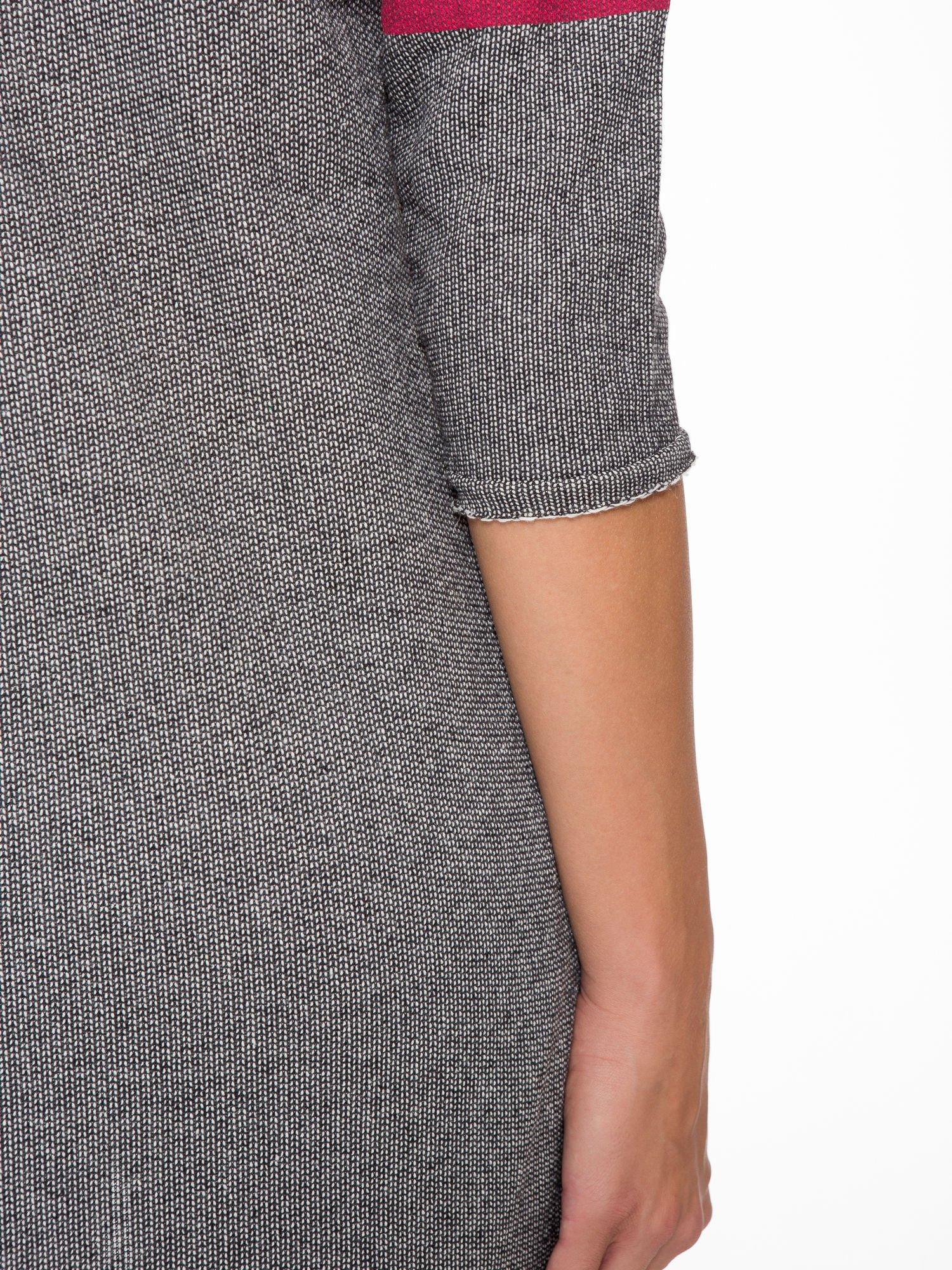 Szara bluza z numerkiem w stylu baseballowym                                  zdj.                                  11