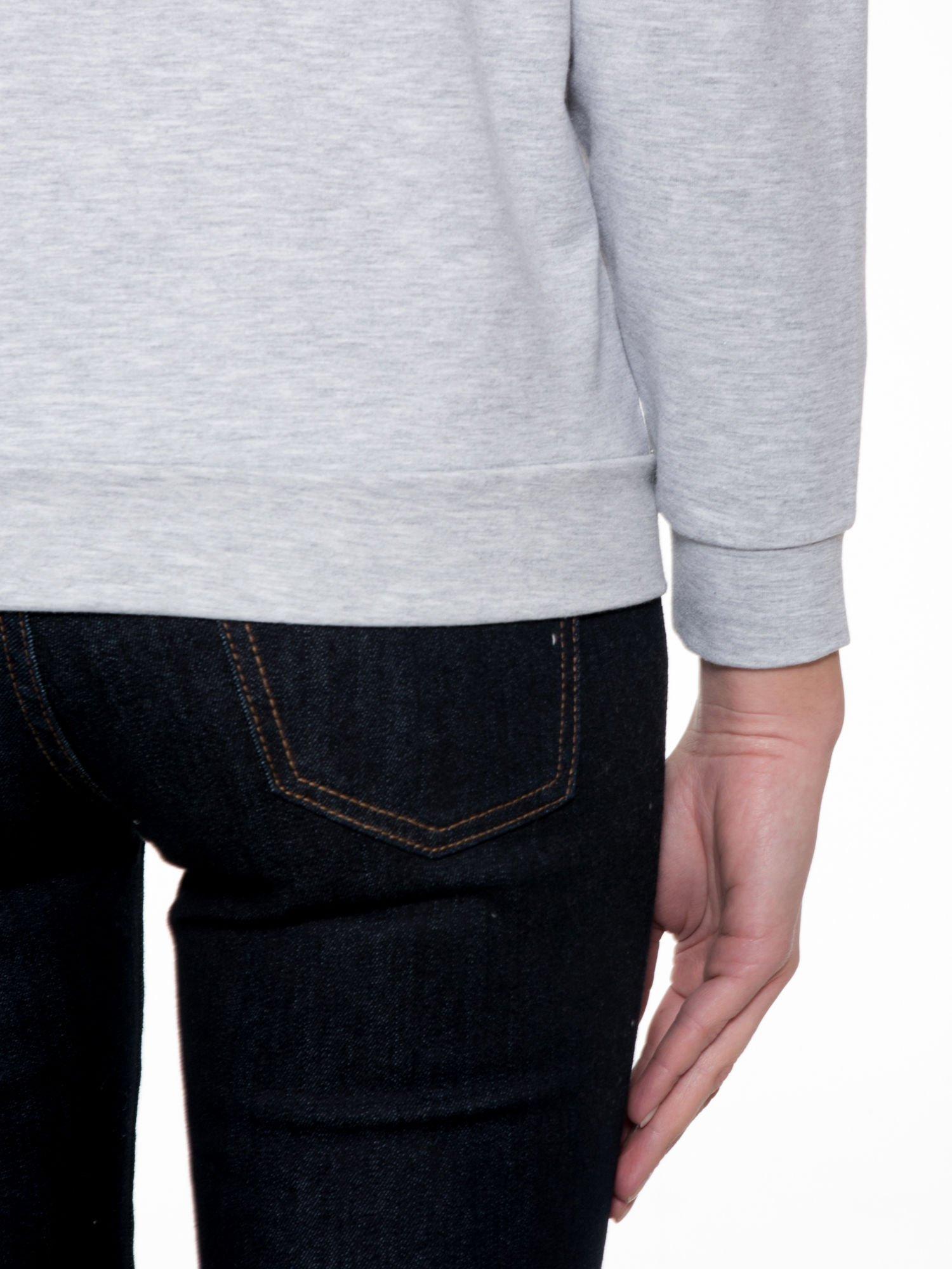 Szara dresowa bluza z nadrukiem zwierzaków                                  zdj.                                  7