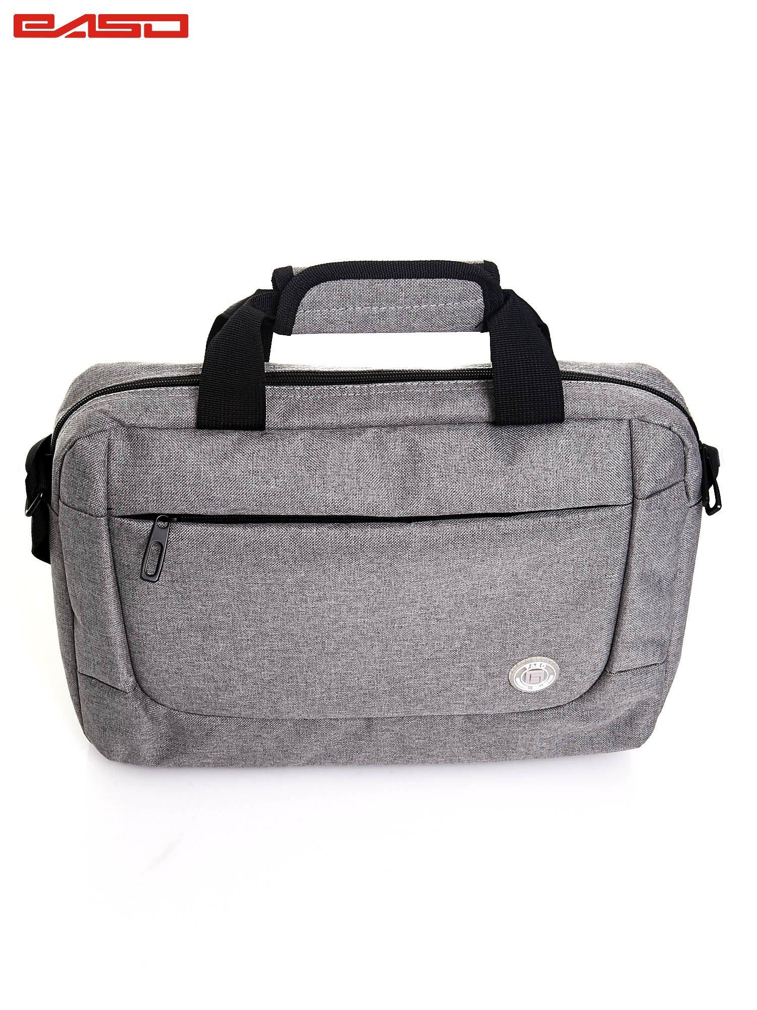 Szara gładka torba na laptopa                                   zdj.                                  4