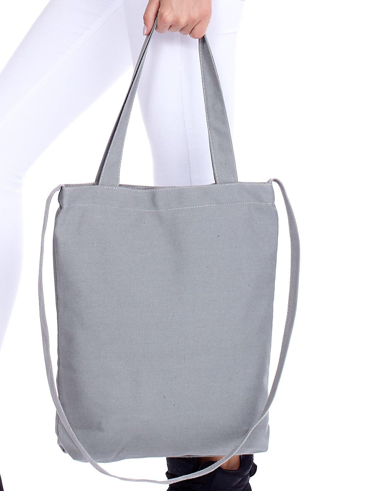 6a83e8a5008c5 Szara torba materiałowa BAGAŻ EMOCJONALNY - Akcesoria torba - sklep ...