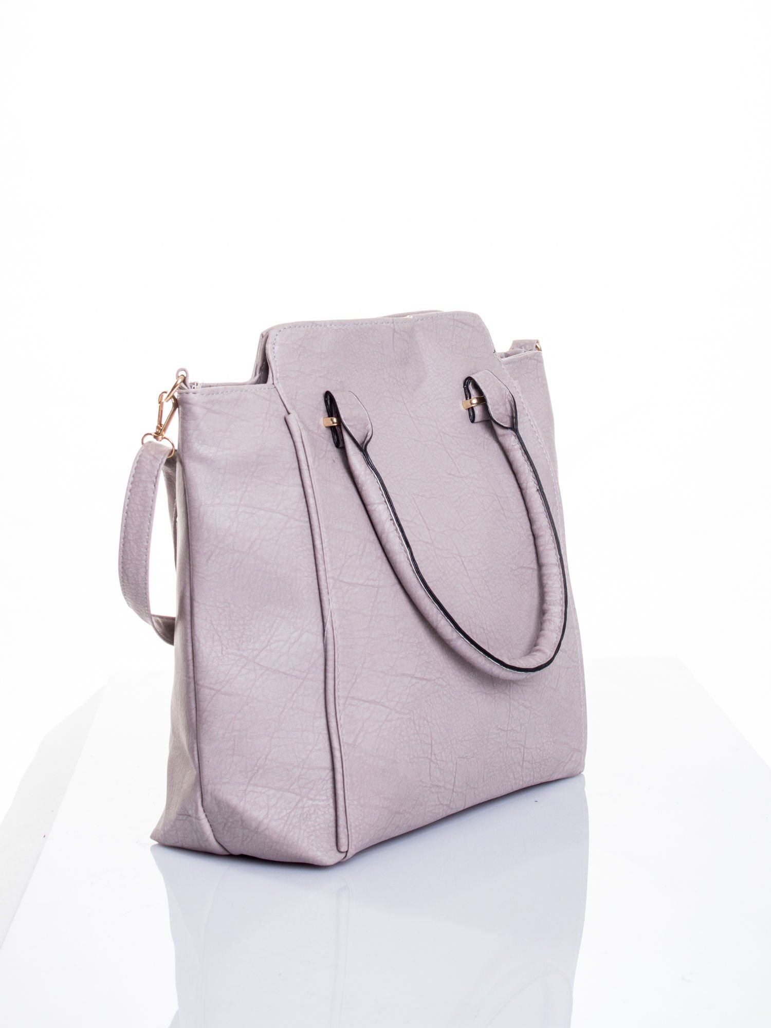 Szara torba shopper bag                                  zdj.                                  4