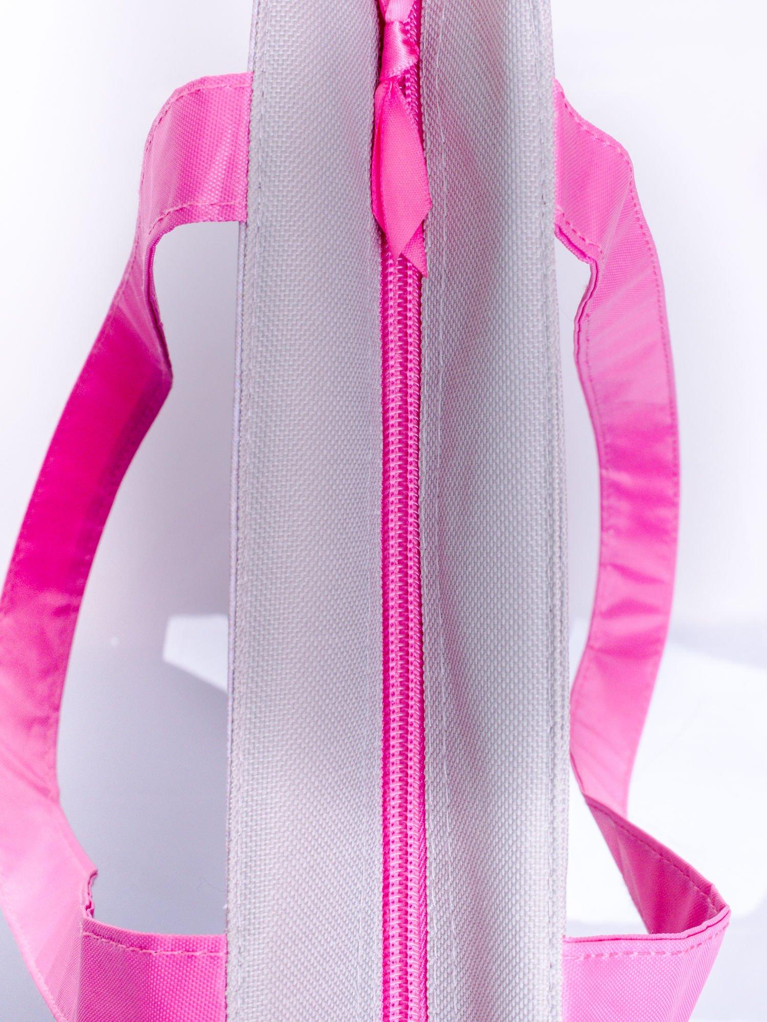 Szara torba shopper bag dla dziewczynki DISNEY Violetta                                  zdj.                                  3