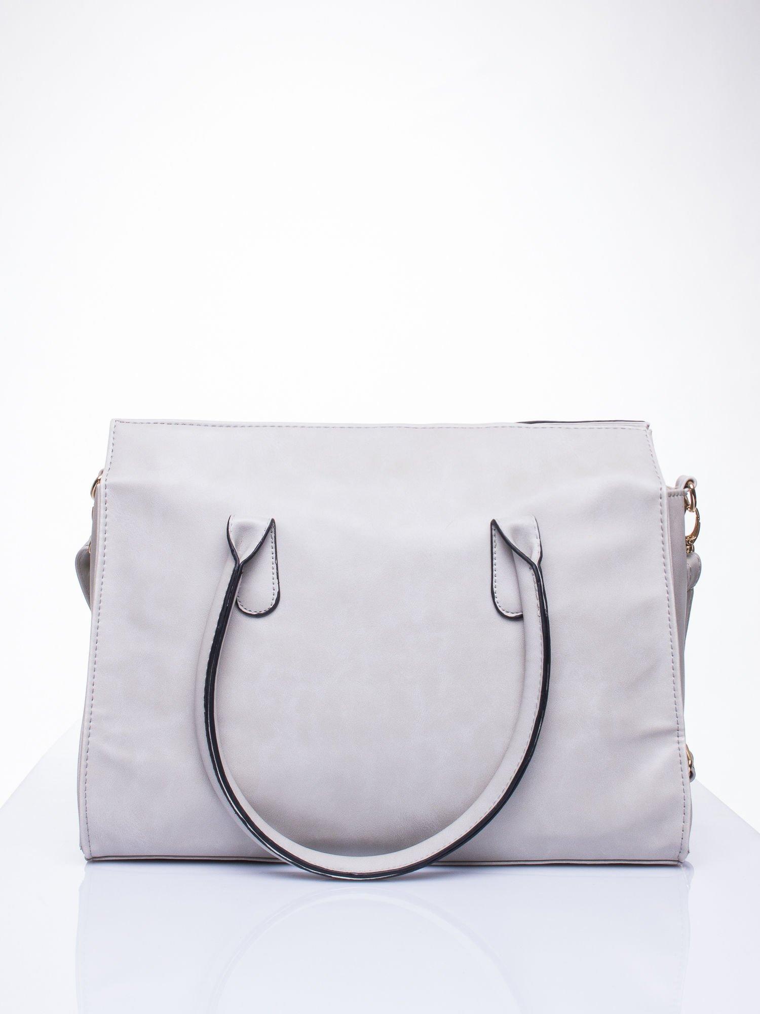 Szara torebka teczka z klapką                                  zdj.                                  4