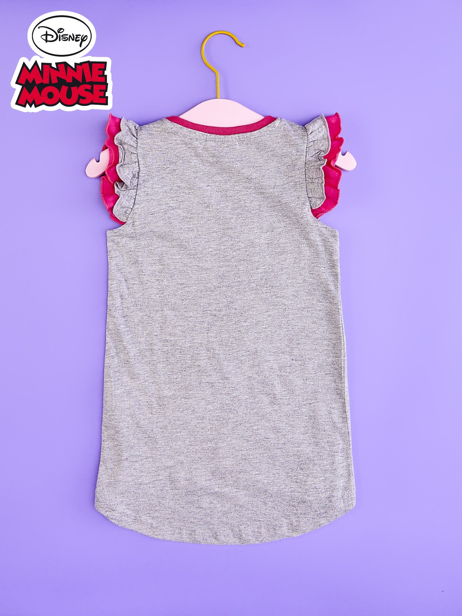 Szara tunika dla dziewczynki z nadrukiem MINNIE MOUSE                                  zdj.                                  2